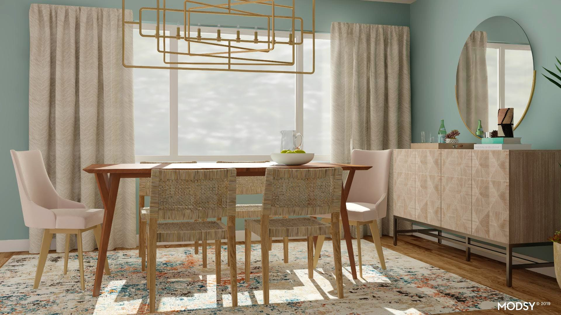 Mid Century Modern Dining Room With Pastels Mid Century Modern Style Dining Room Design Ideas