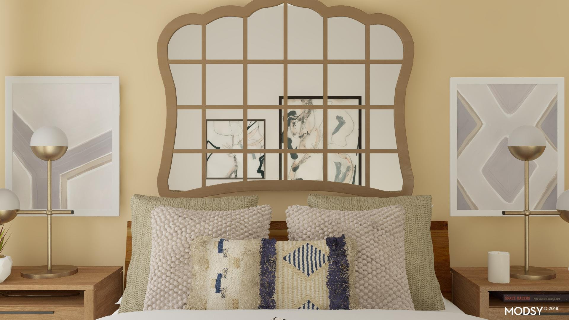 Transitional Reflections: Bedroom