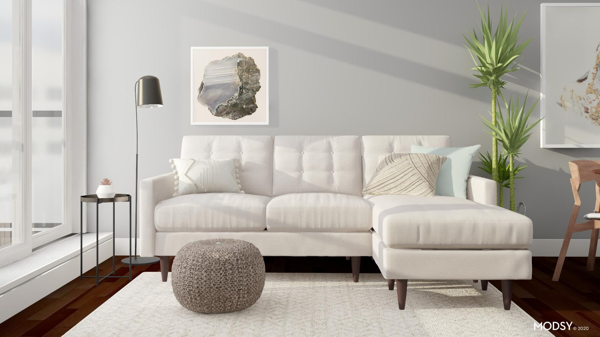 Sweet Sectional for a Small Room Modern Space