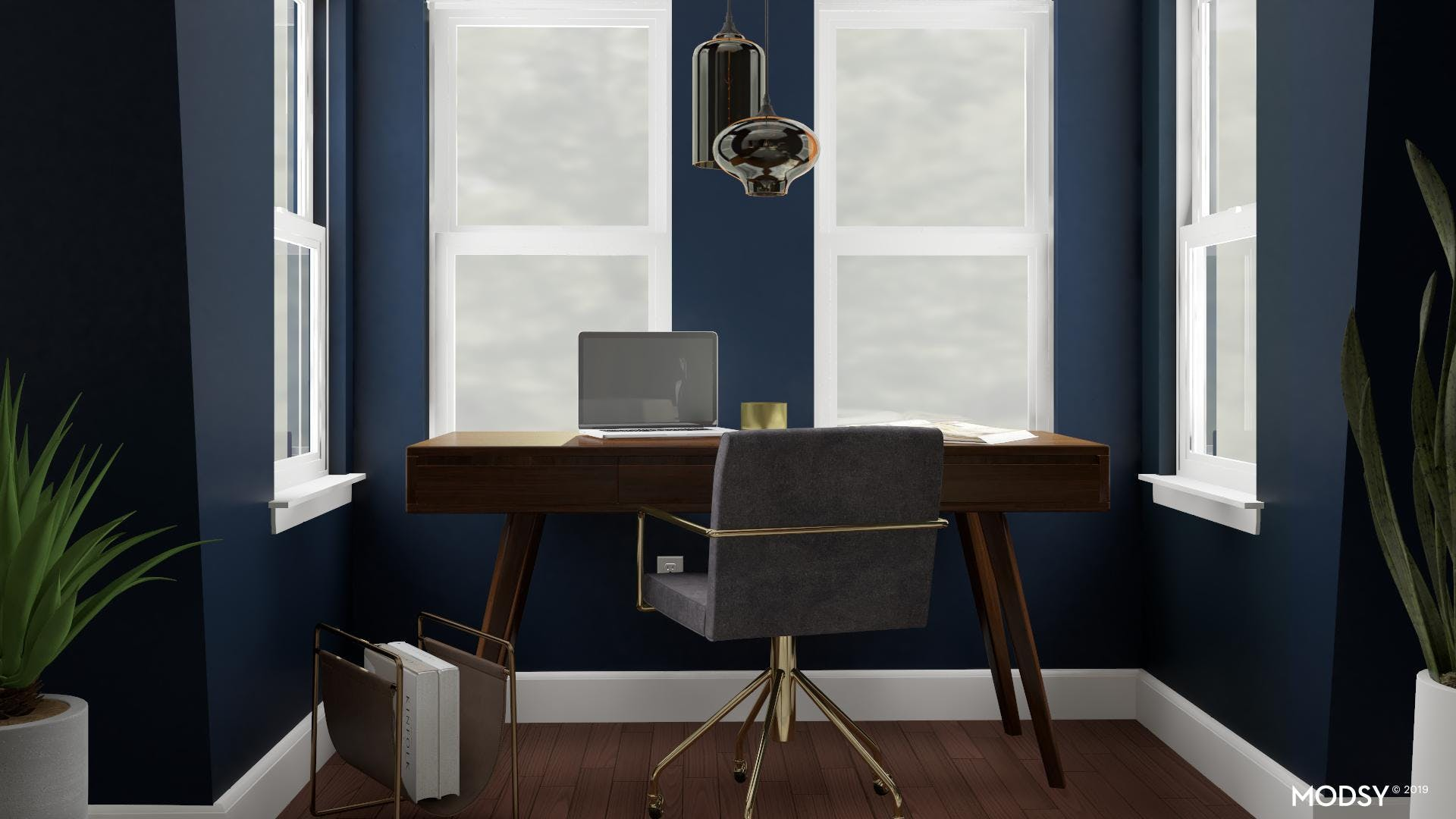 Go Bold With Your Walls - A Mid-Century Mod Office