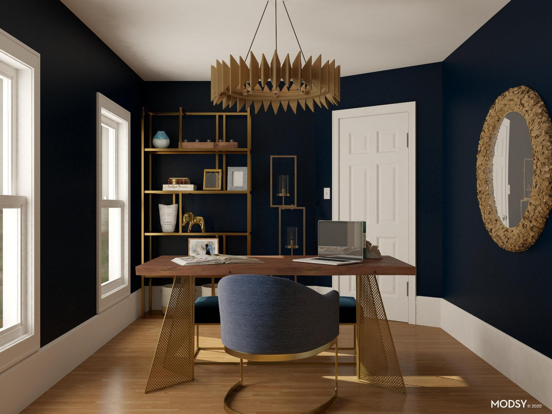 Jewel Tones inspiration in this Glamorous Office
