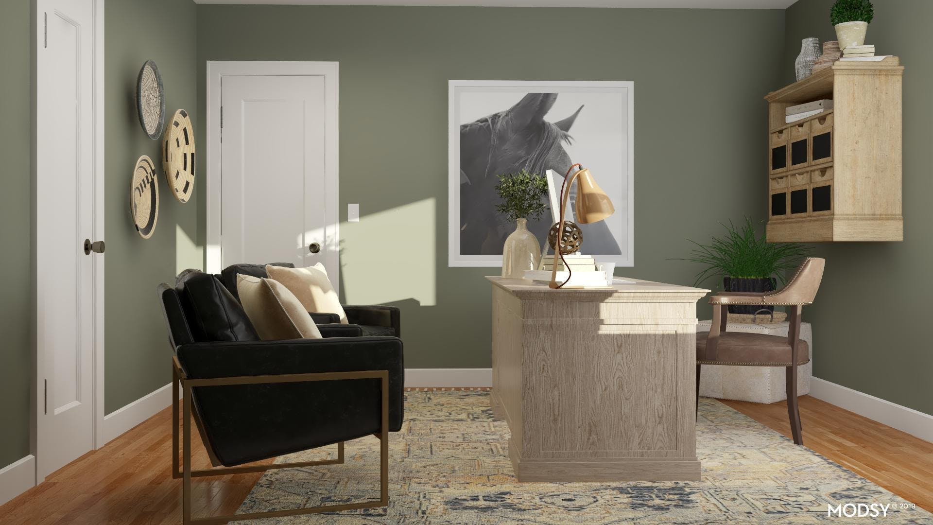 Going Green: Rustic Office