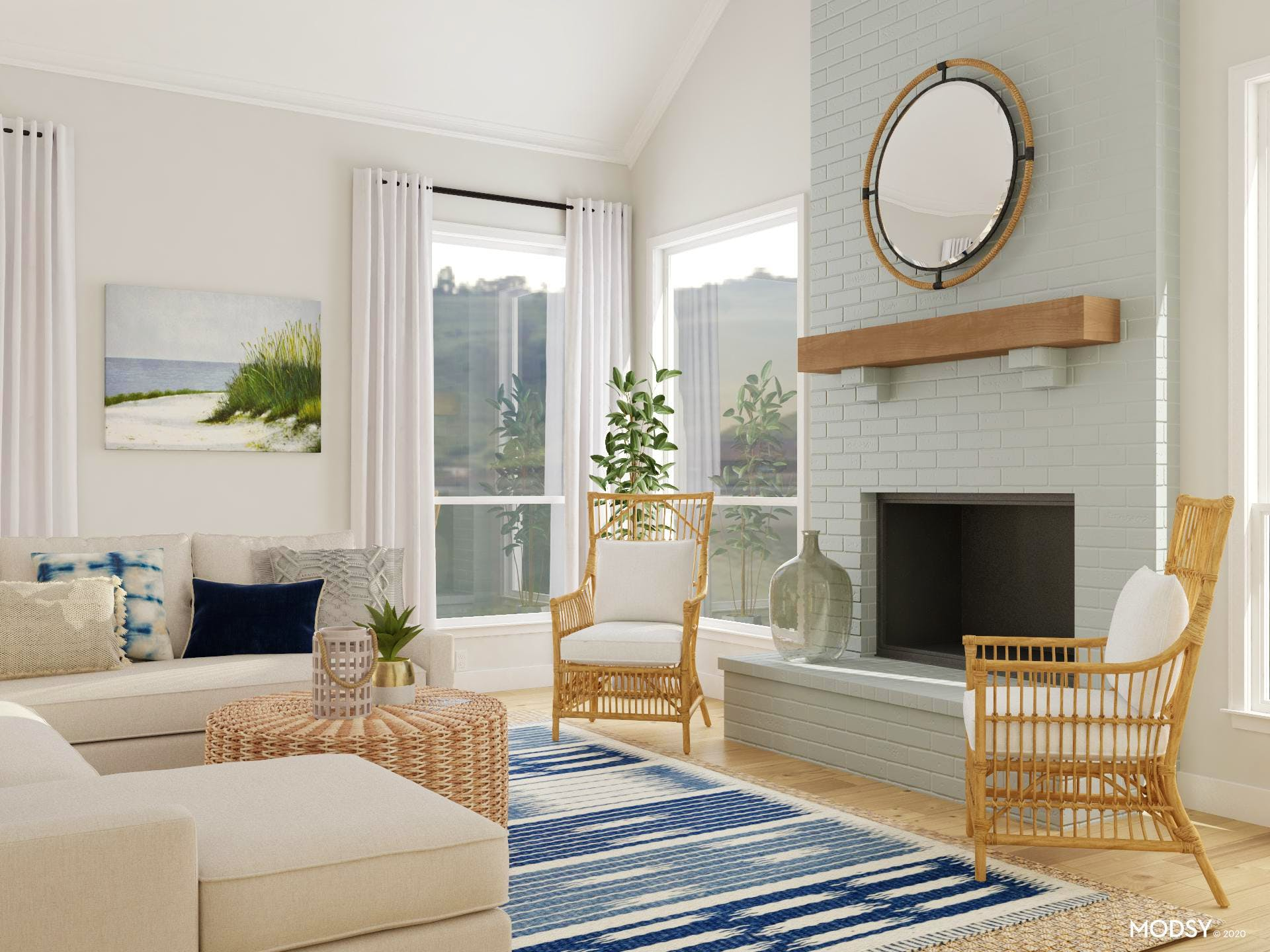 Woven and Wonderful Beachy Living Room