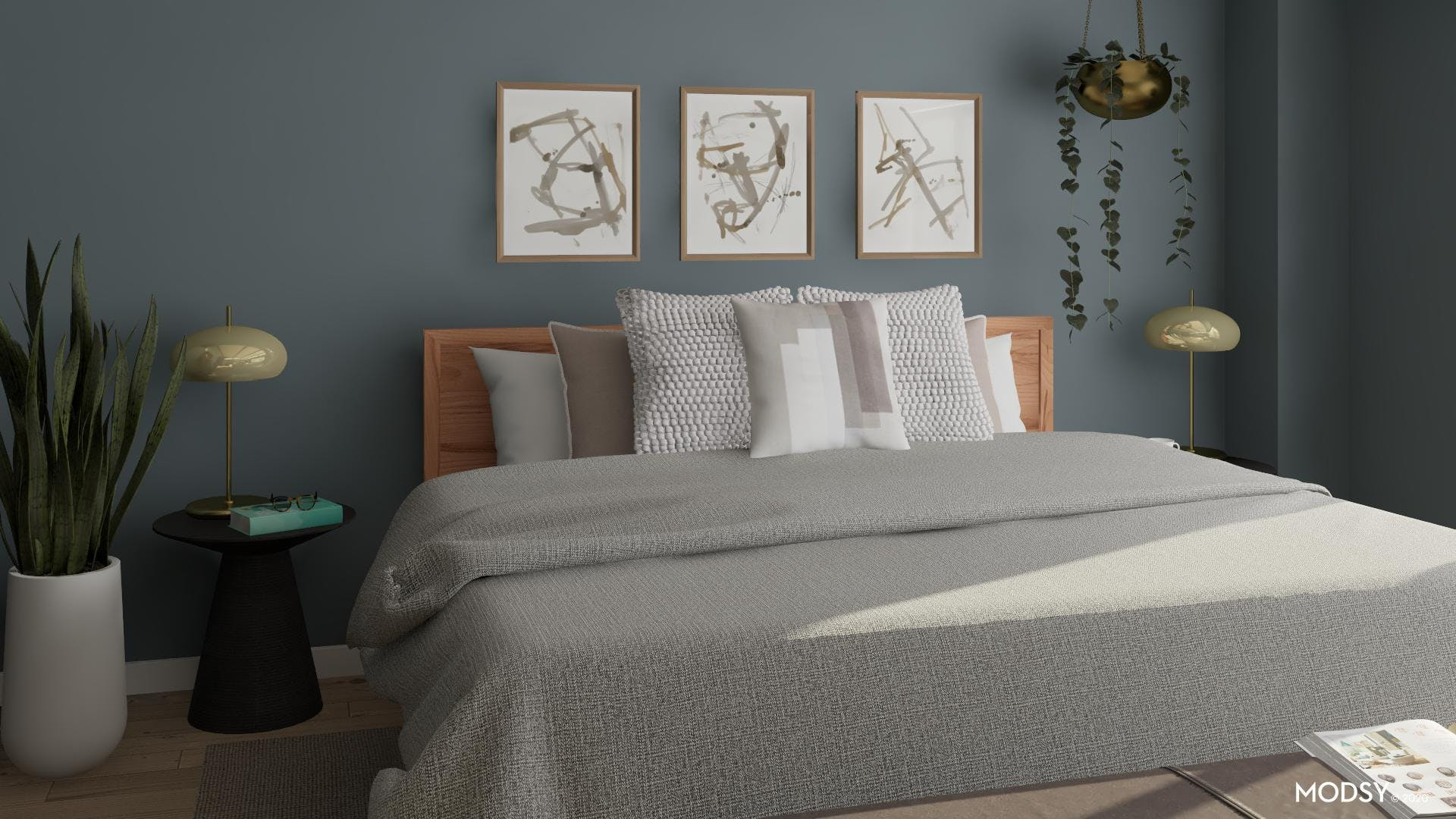 Textured Neutrals In A Contemporary Bedroom