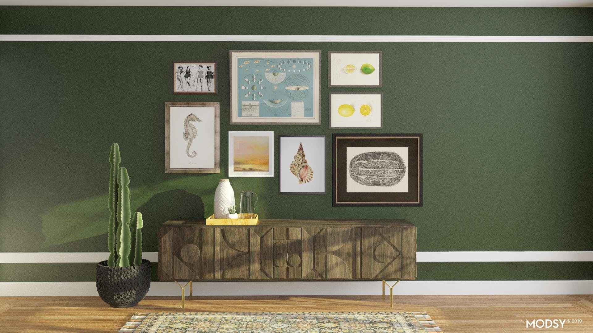 Green with Envy Gallery Wall
