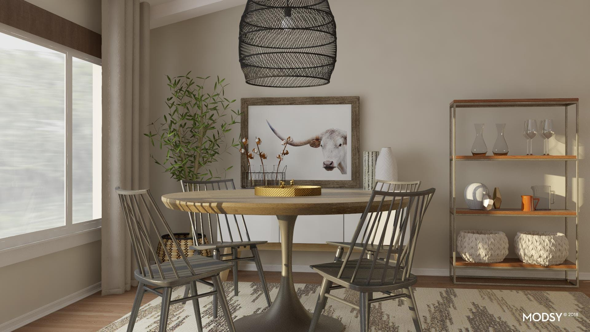 The New Modern Rustic Dining Look