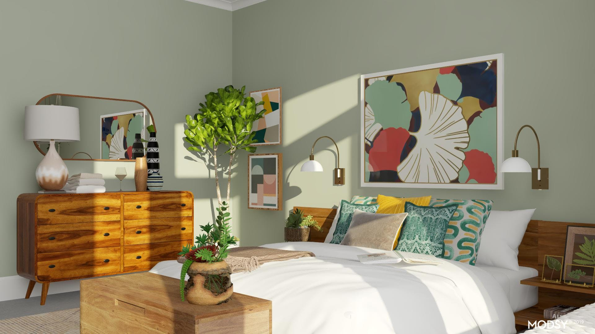 Groovy Green And Coral Retreat