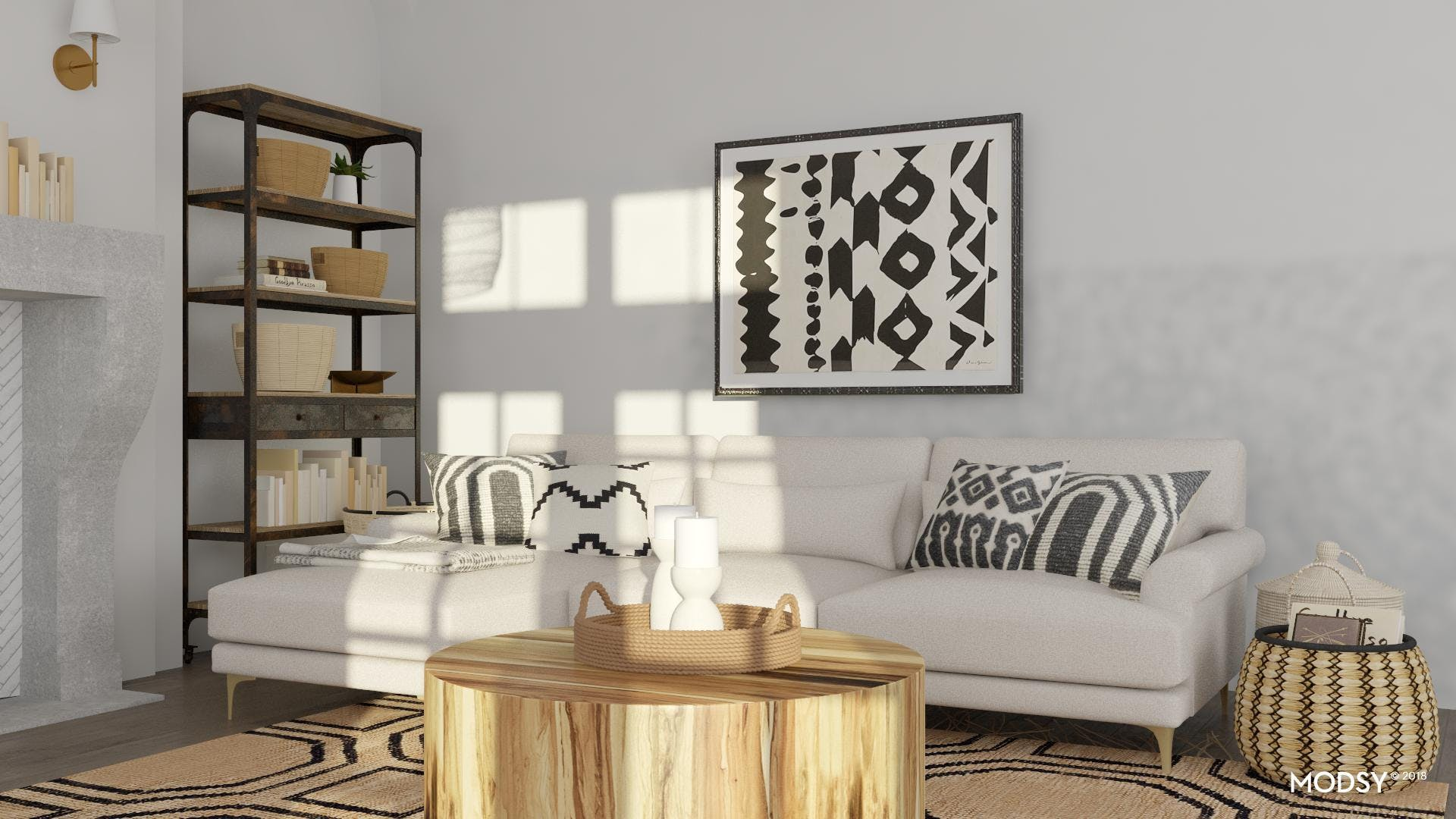 Mixing Patterns In Black and White