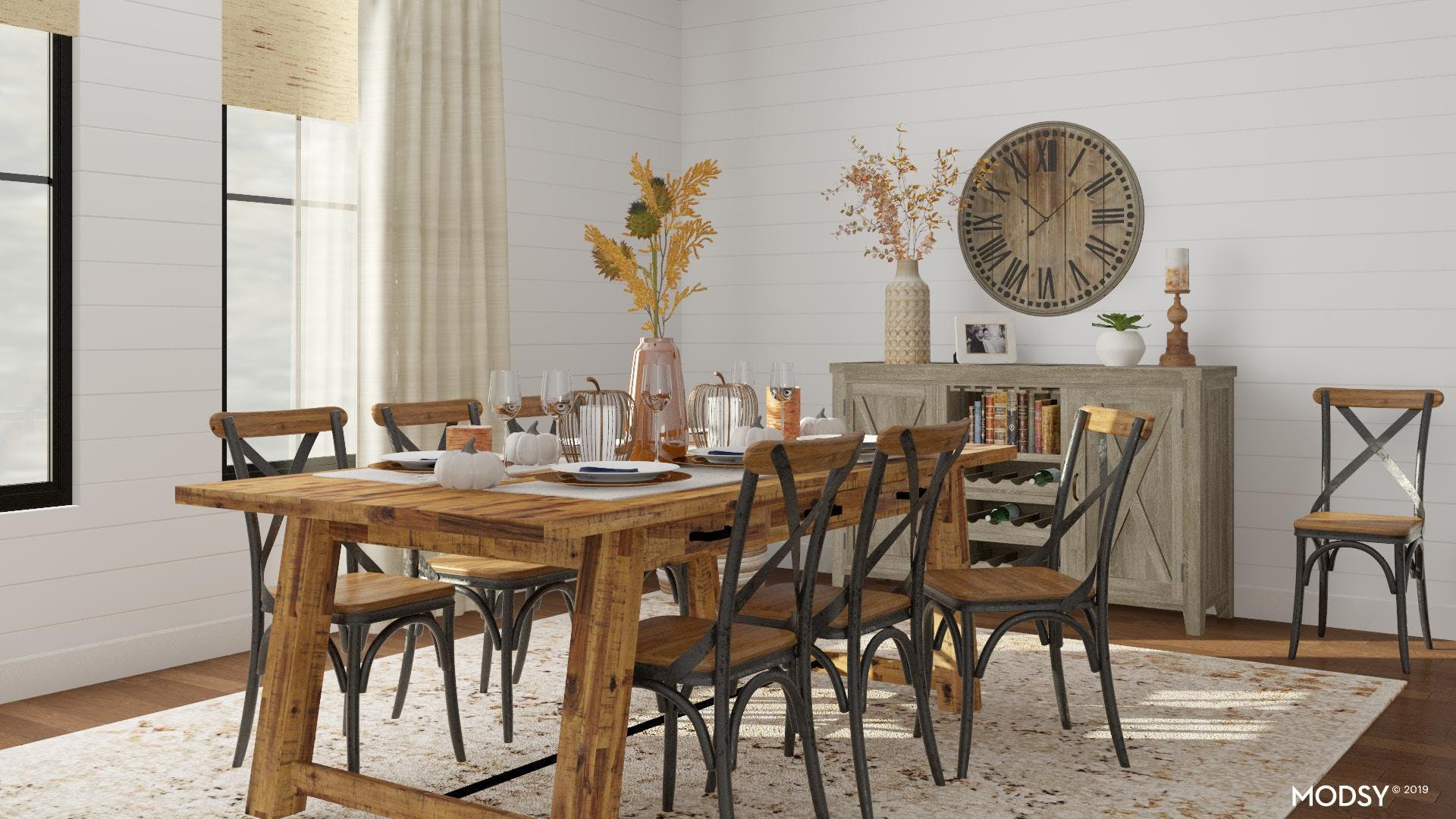 Fall Decor for a Modern Farmhouse Dining Room