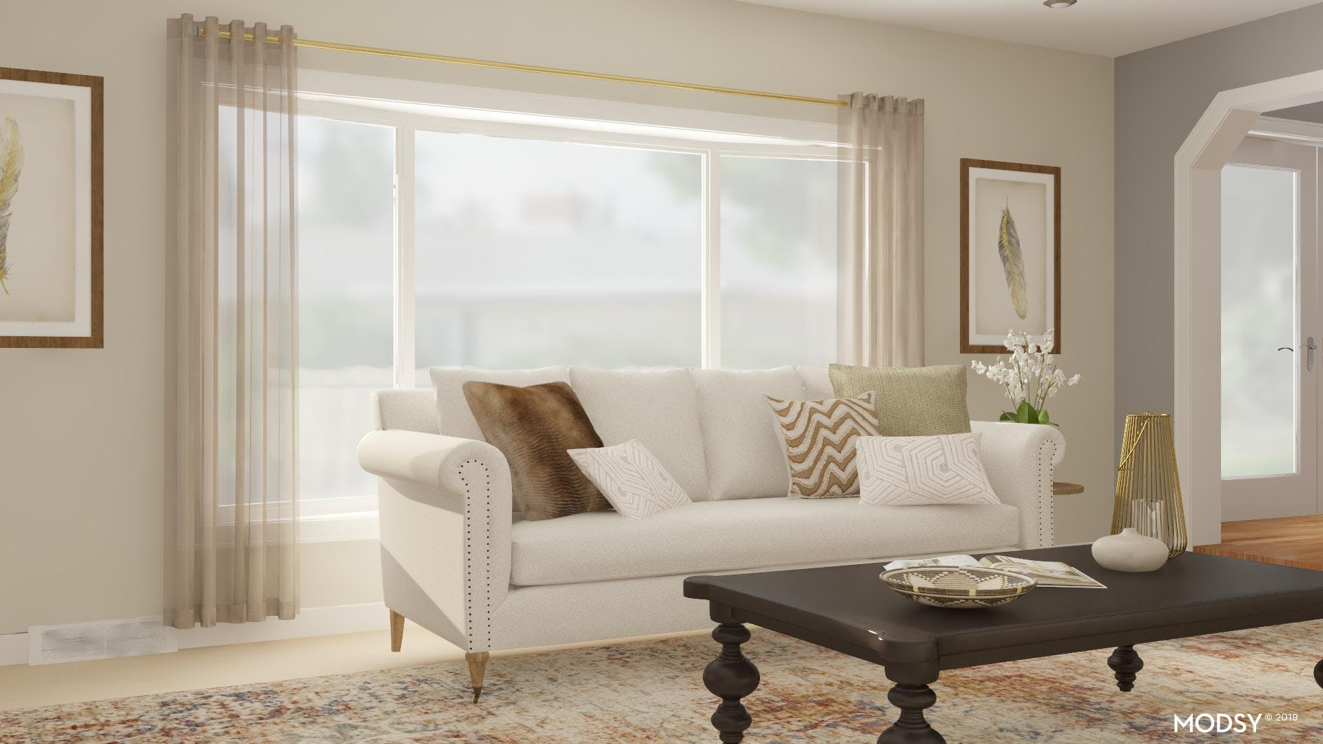 Neutral Contrasts: Traditional Living