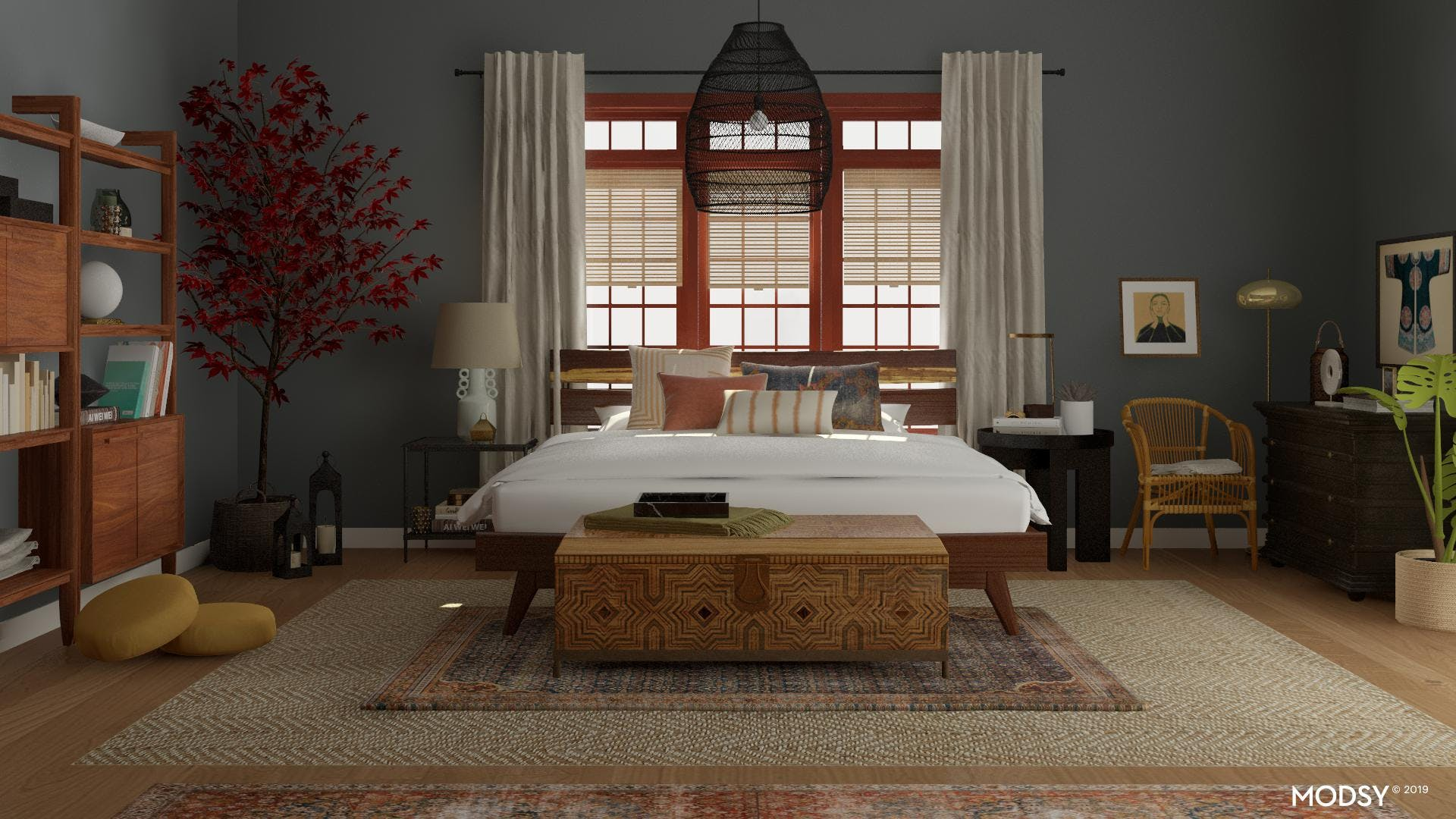 Eclectic Bedroom with a Moody Edge