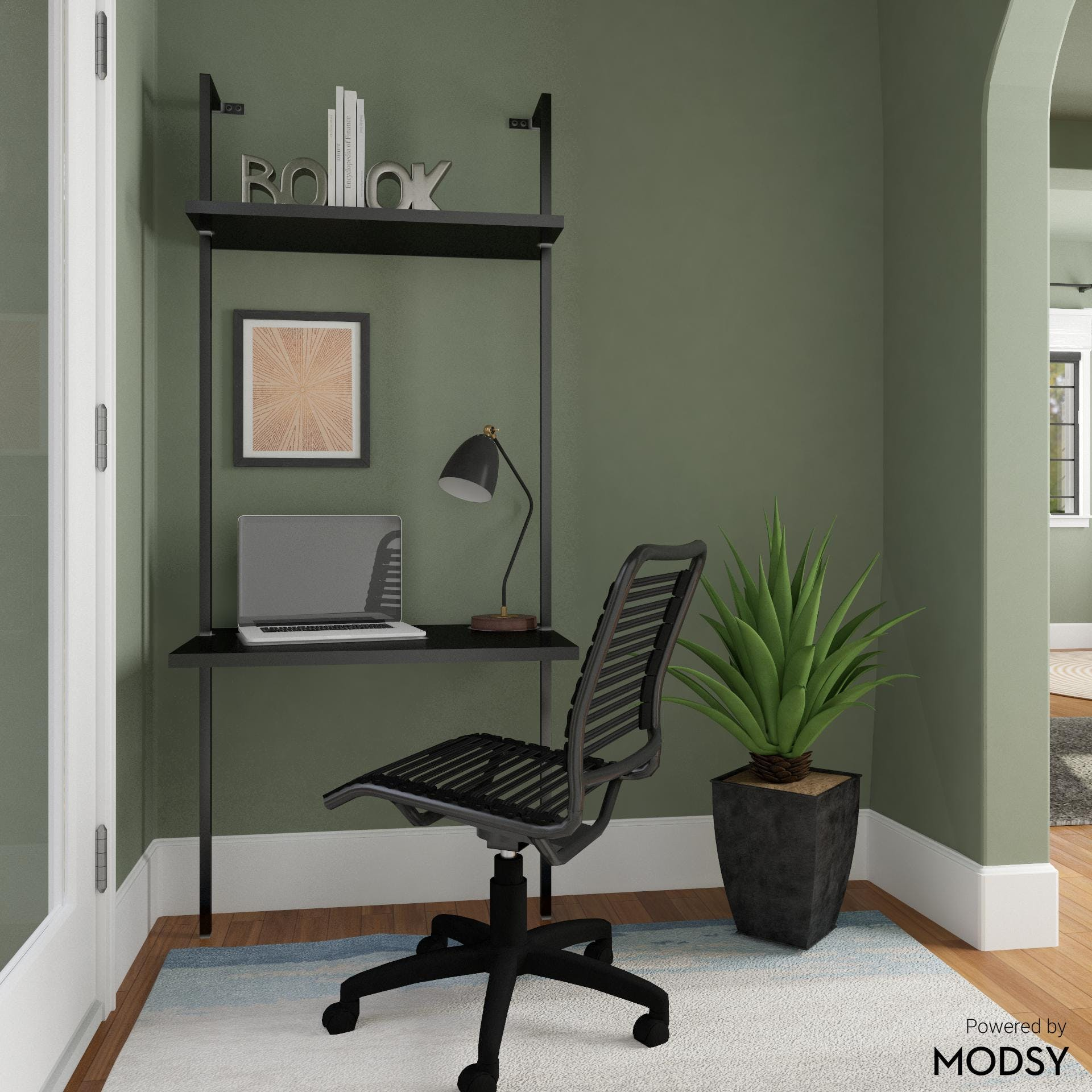 Cool And Collected Office Nook