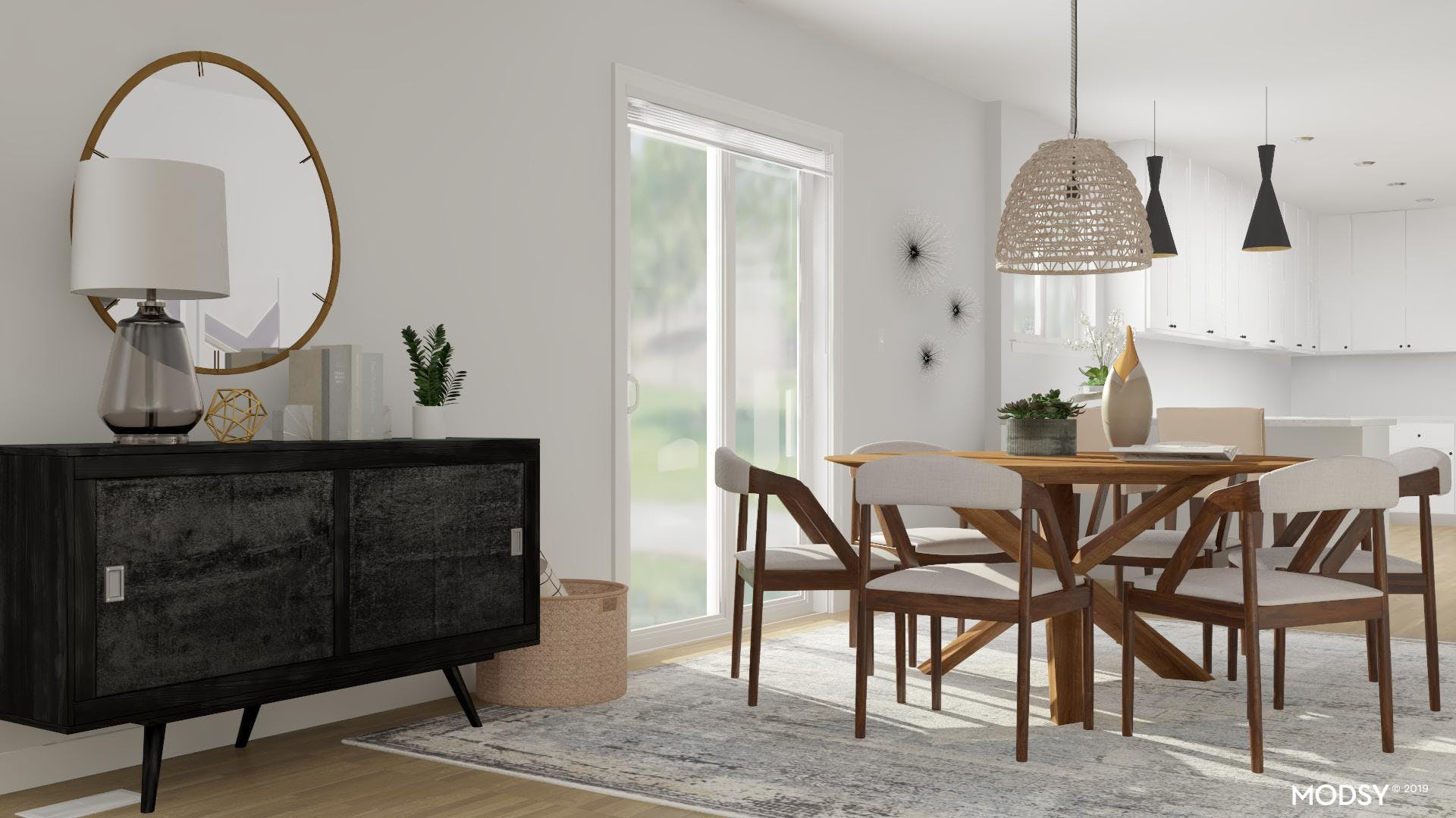 A Modern Masculine Dining Room
