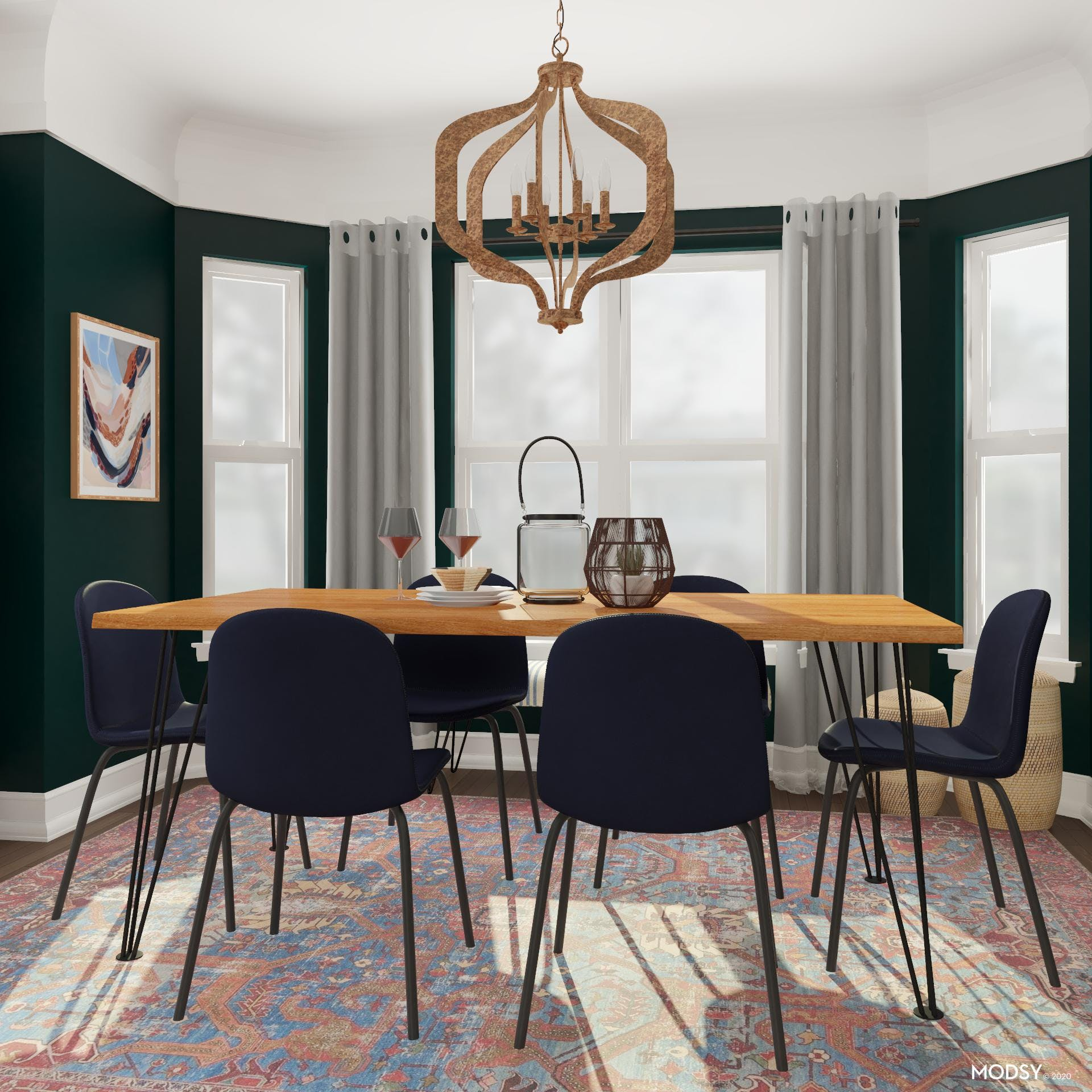 Bold With Jewel Tones: An Eclectic Dining Room