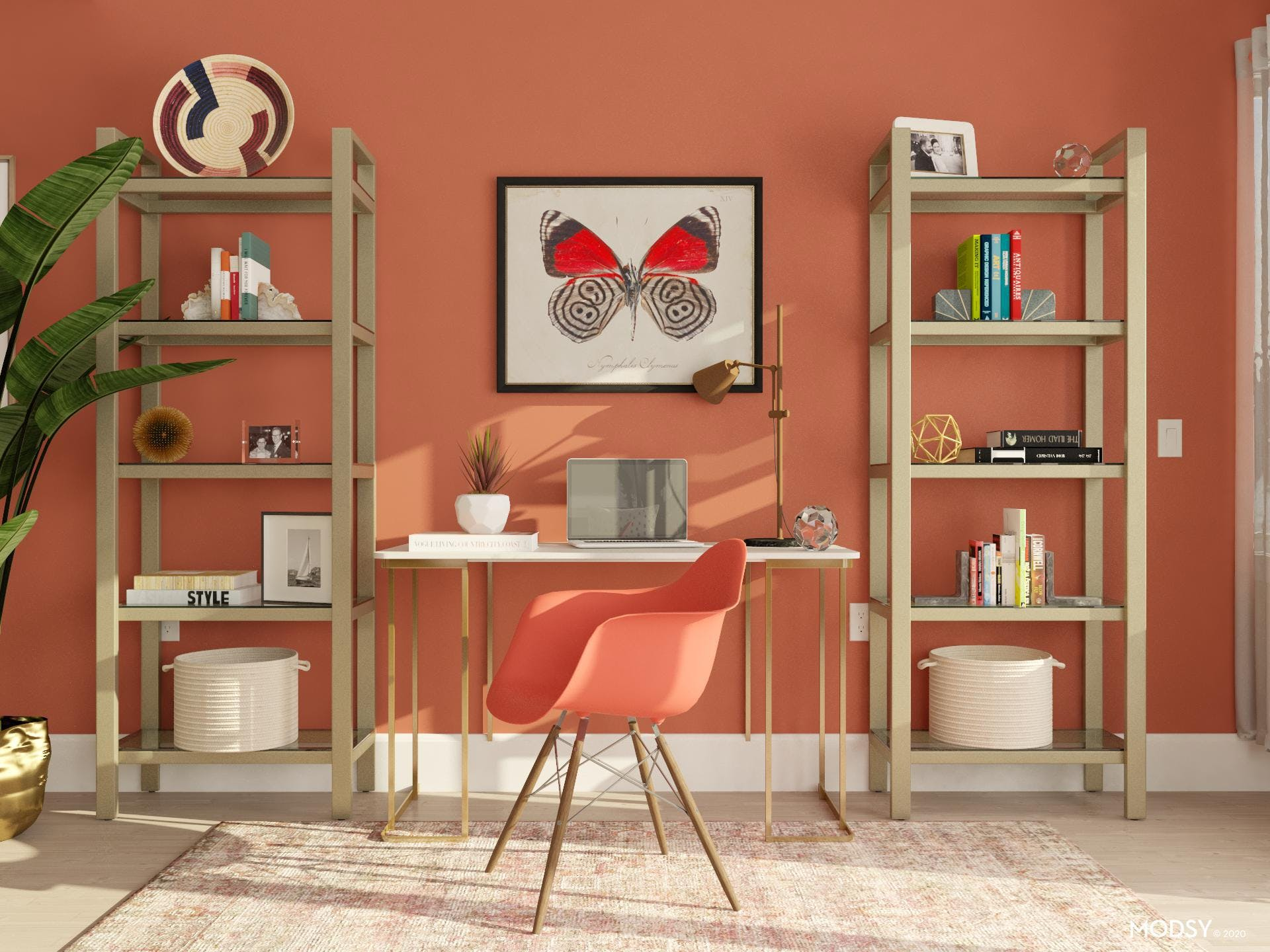 Energizing Office in Beautiful Red Hues