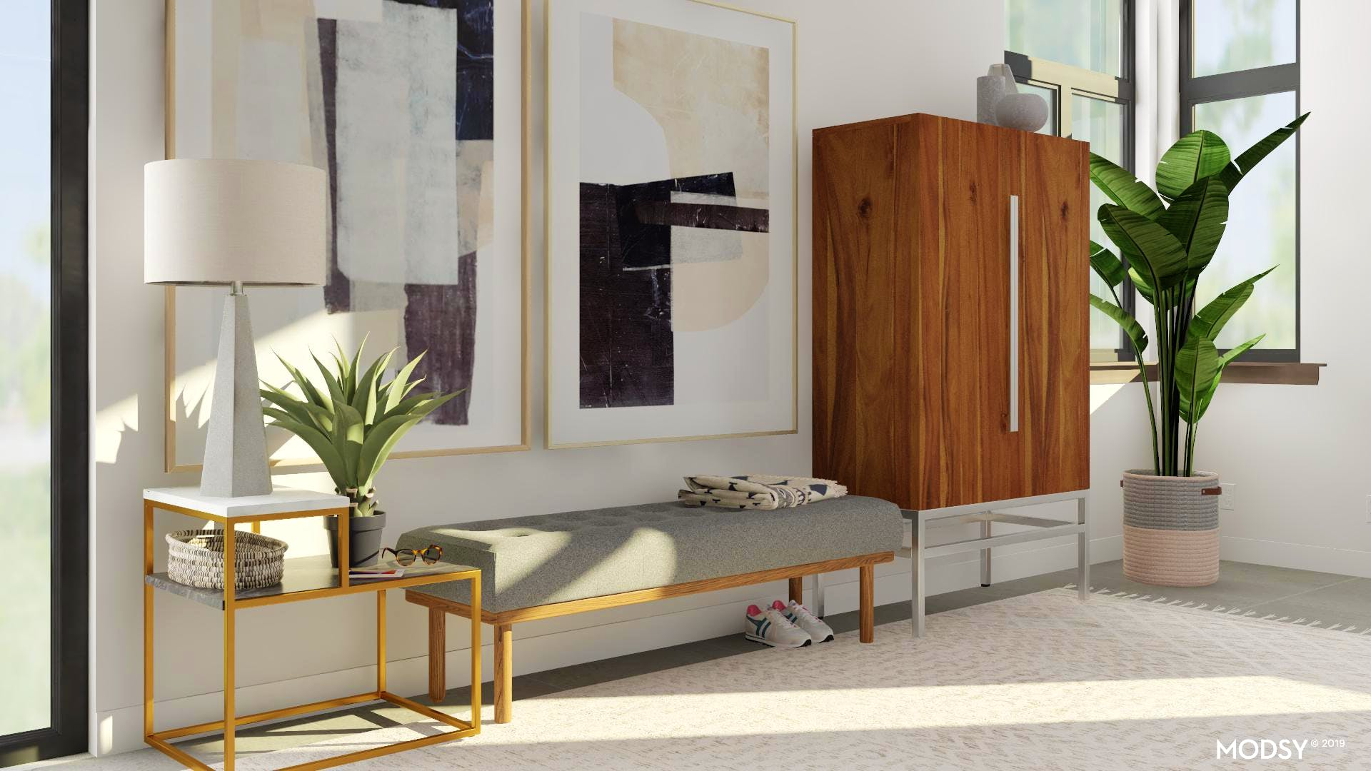 Make Your Modern Entry Pop With Large Scale Art