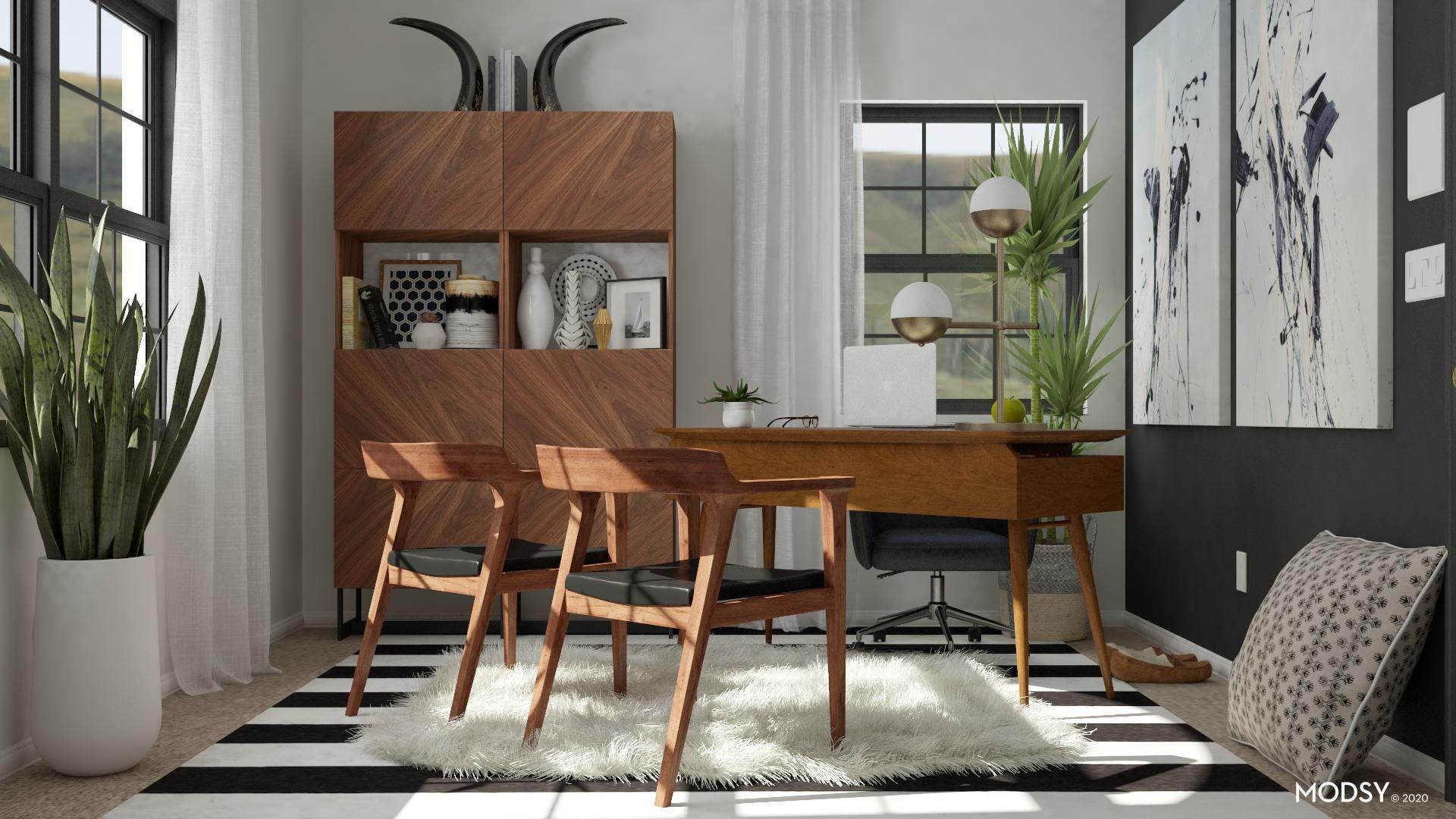 Getting Down To Business: Mid-Century Modern Office