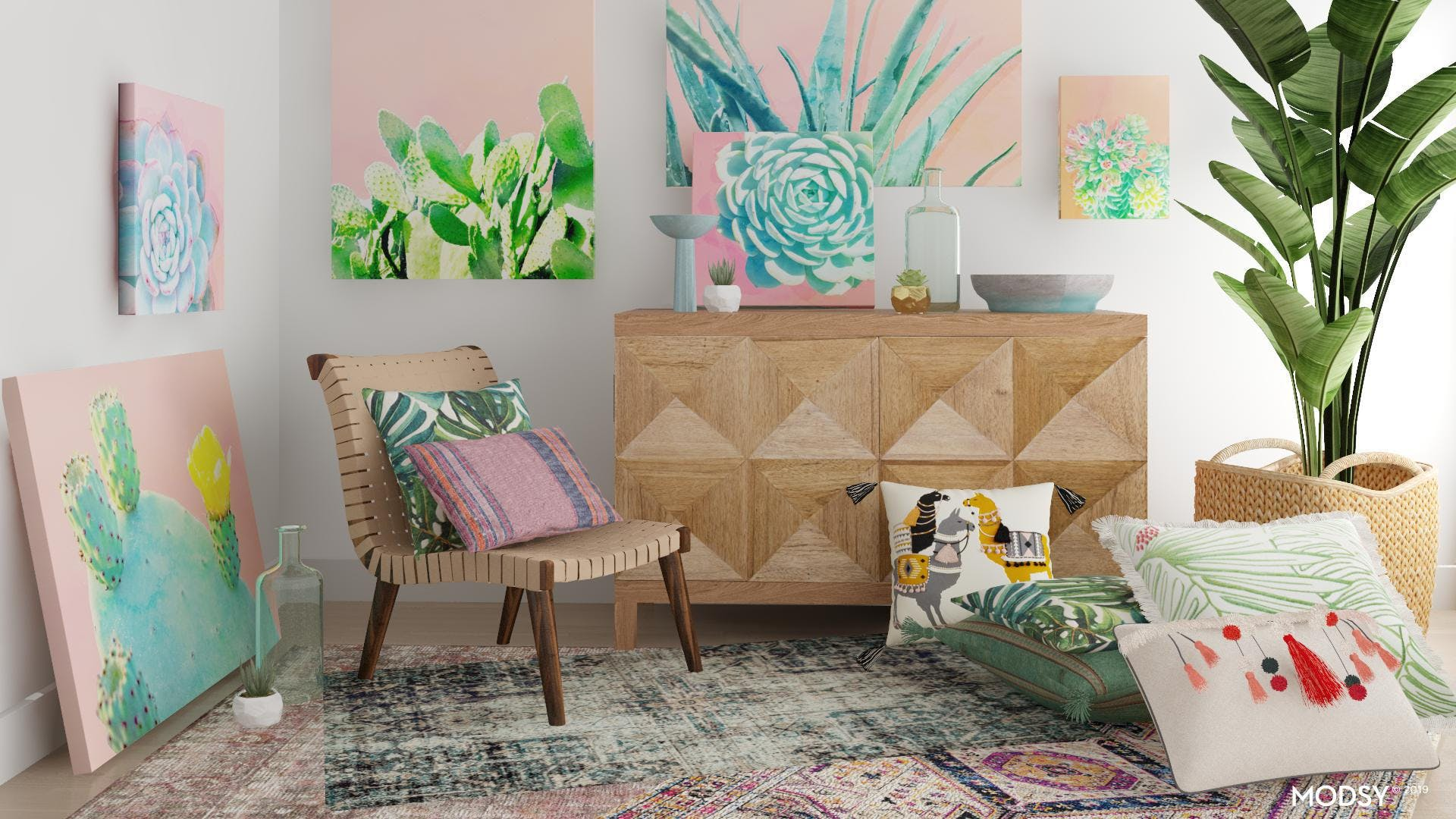 A Maximalist, Jungalow-Inspired Space