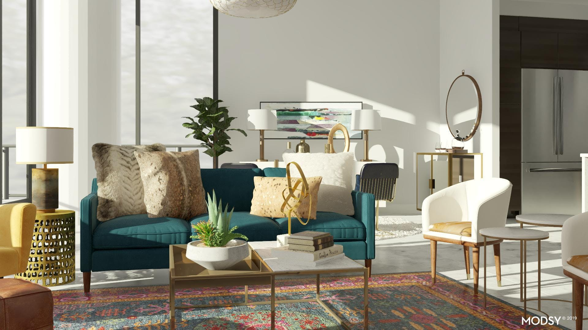 Comfortable Glam Living Space