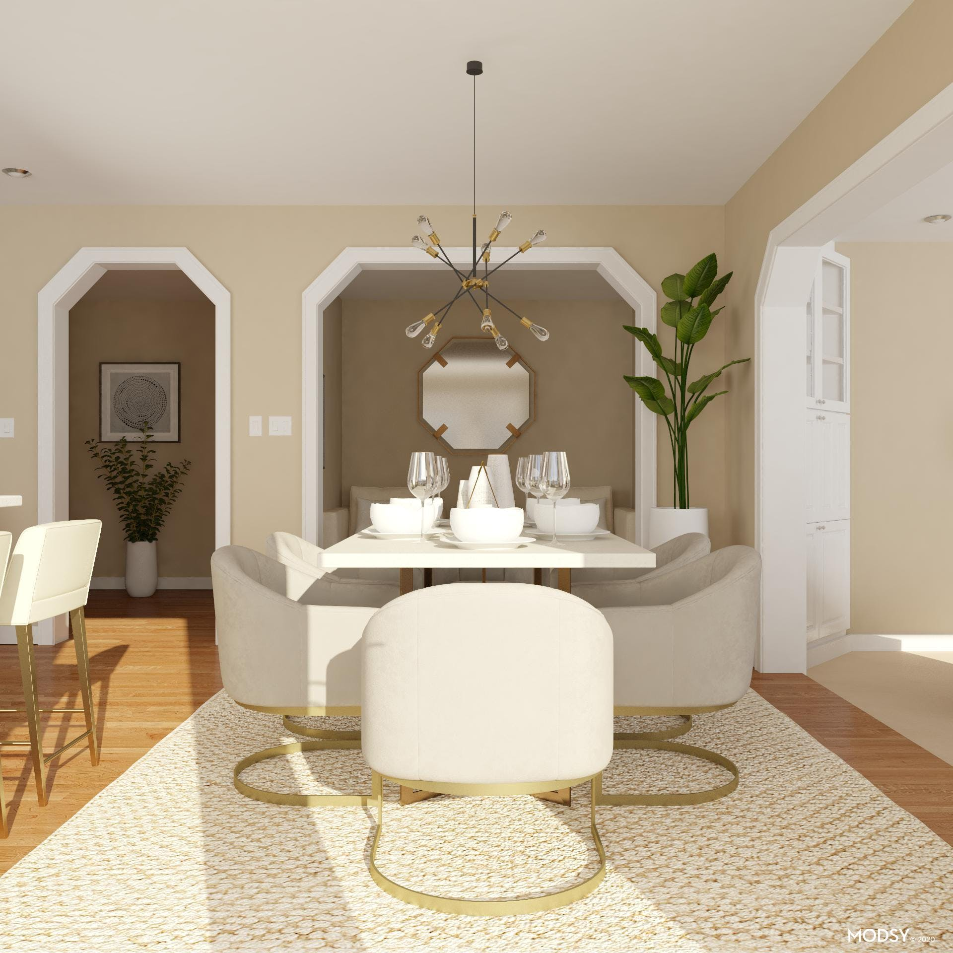 Modern Pet Friendly Dining Room