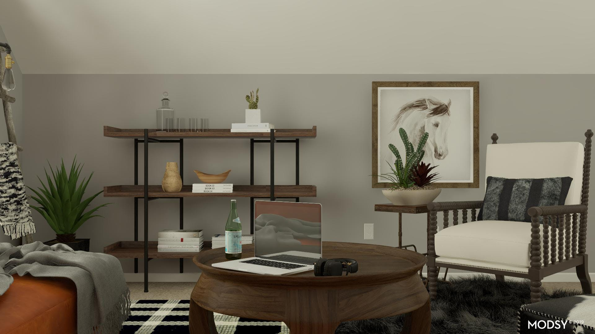 Rustic Design For A Small Living Room Nook
