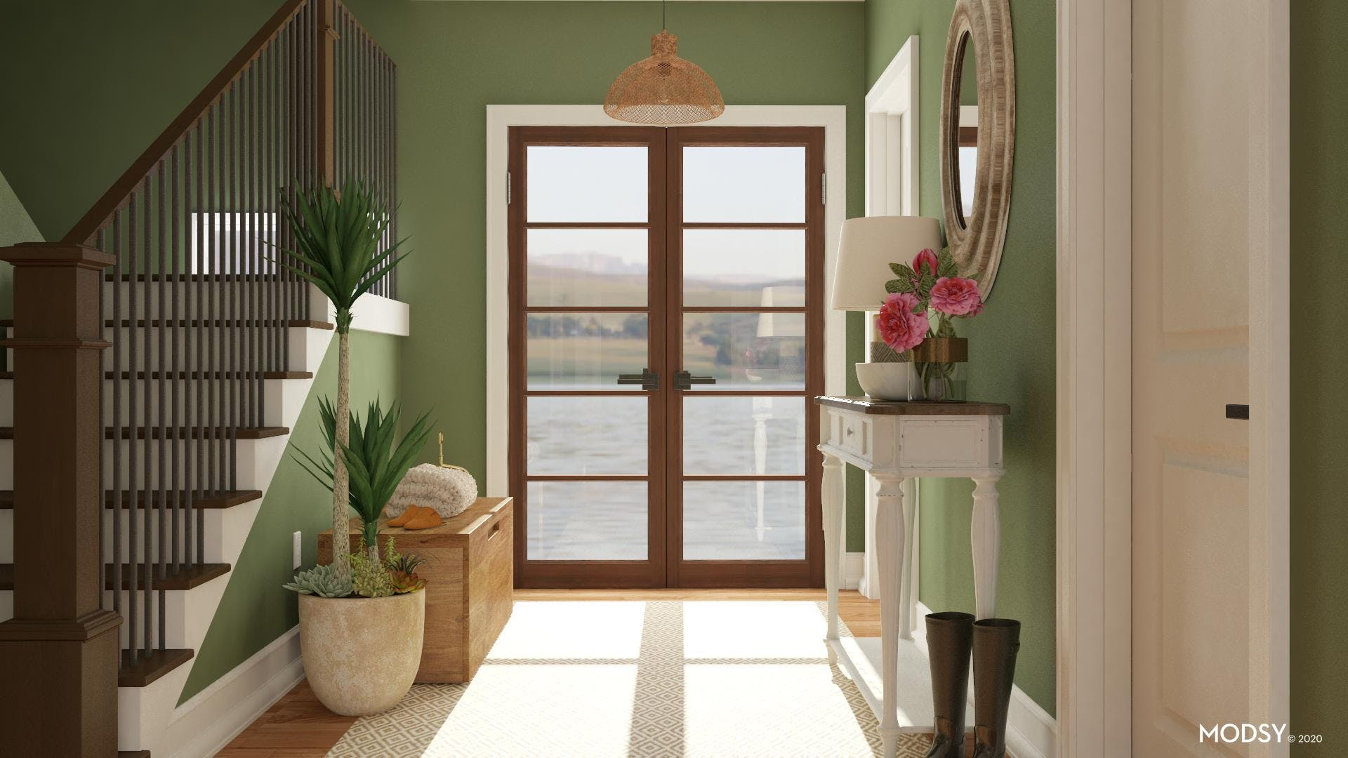 A Rustic Welcome: Earthy Entry Design