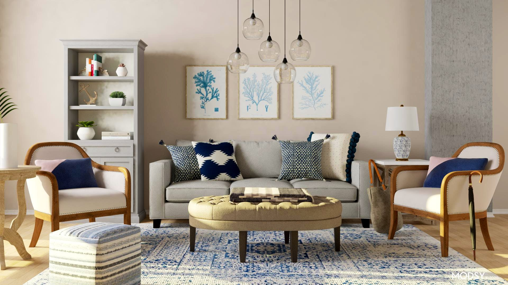 Transitional Living Room Design Ideas and Styles from Modsy Designers