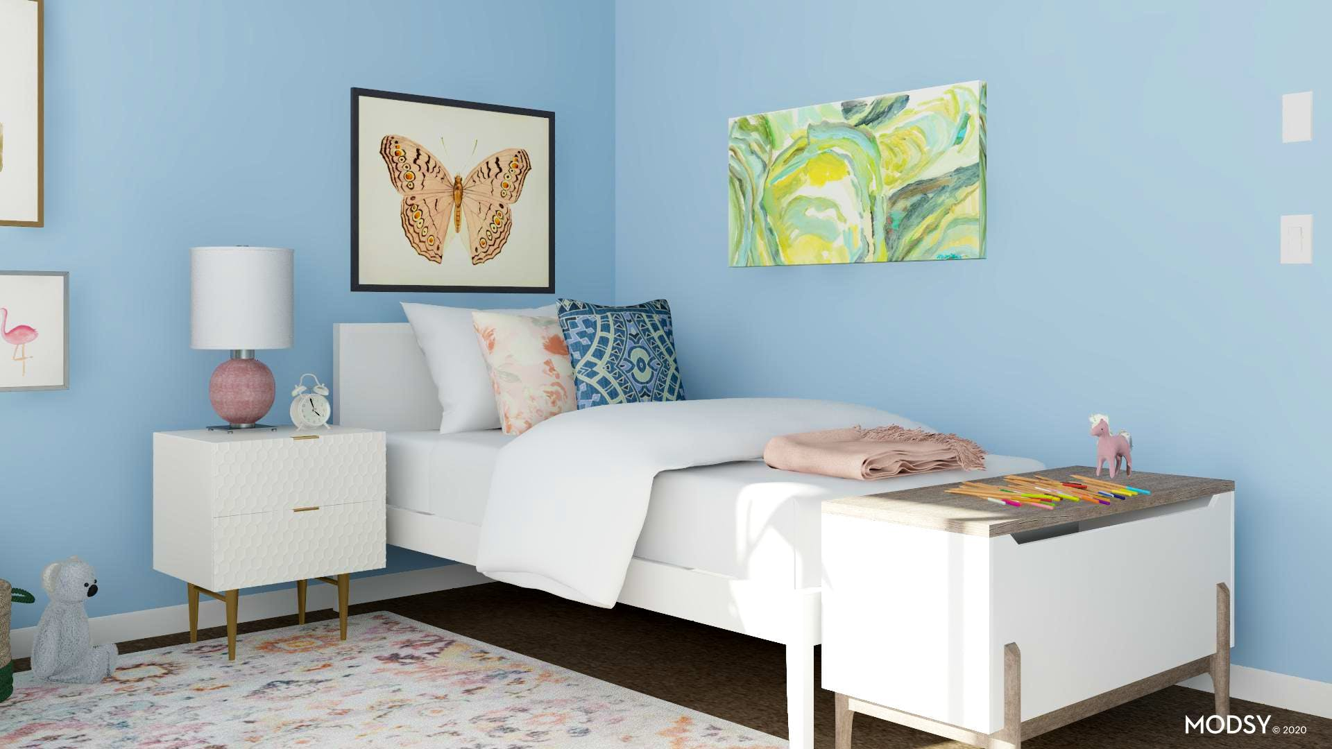 Contemporary and Pastel Kids Bedroom