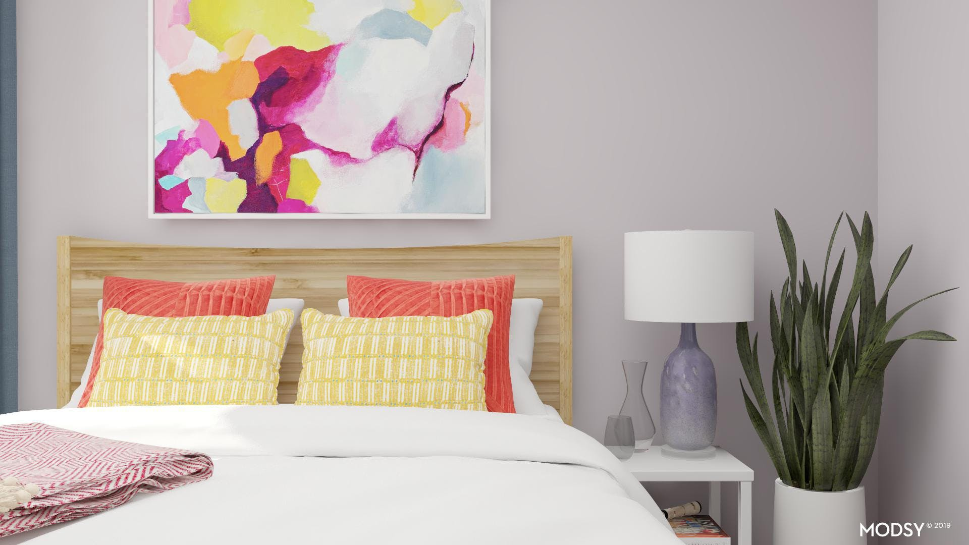Bedroom With Bright Multi Colors