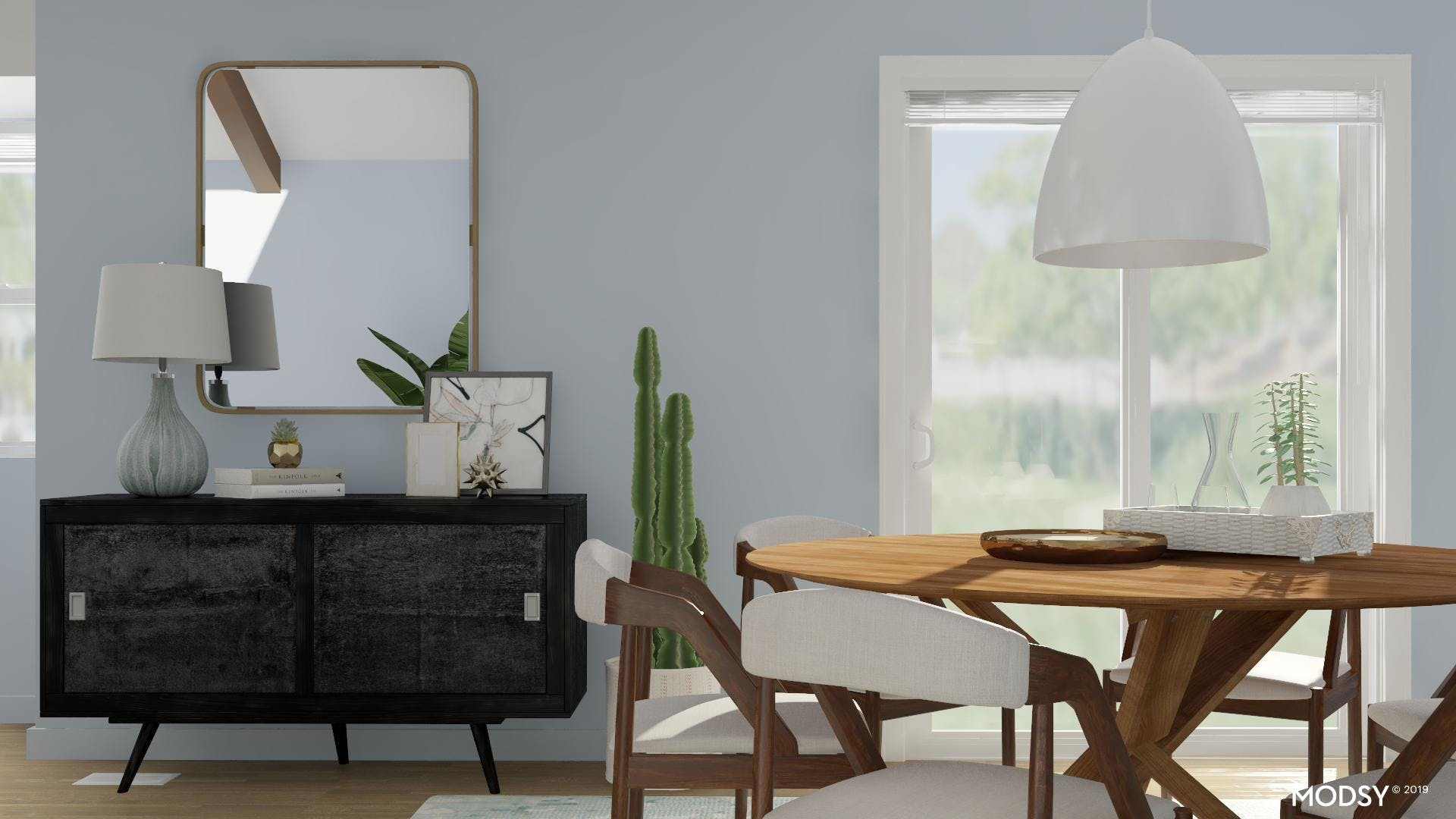 A Calm And Fresh Dining Space