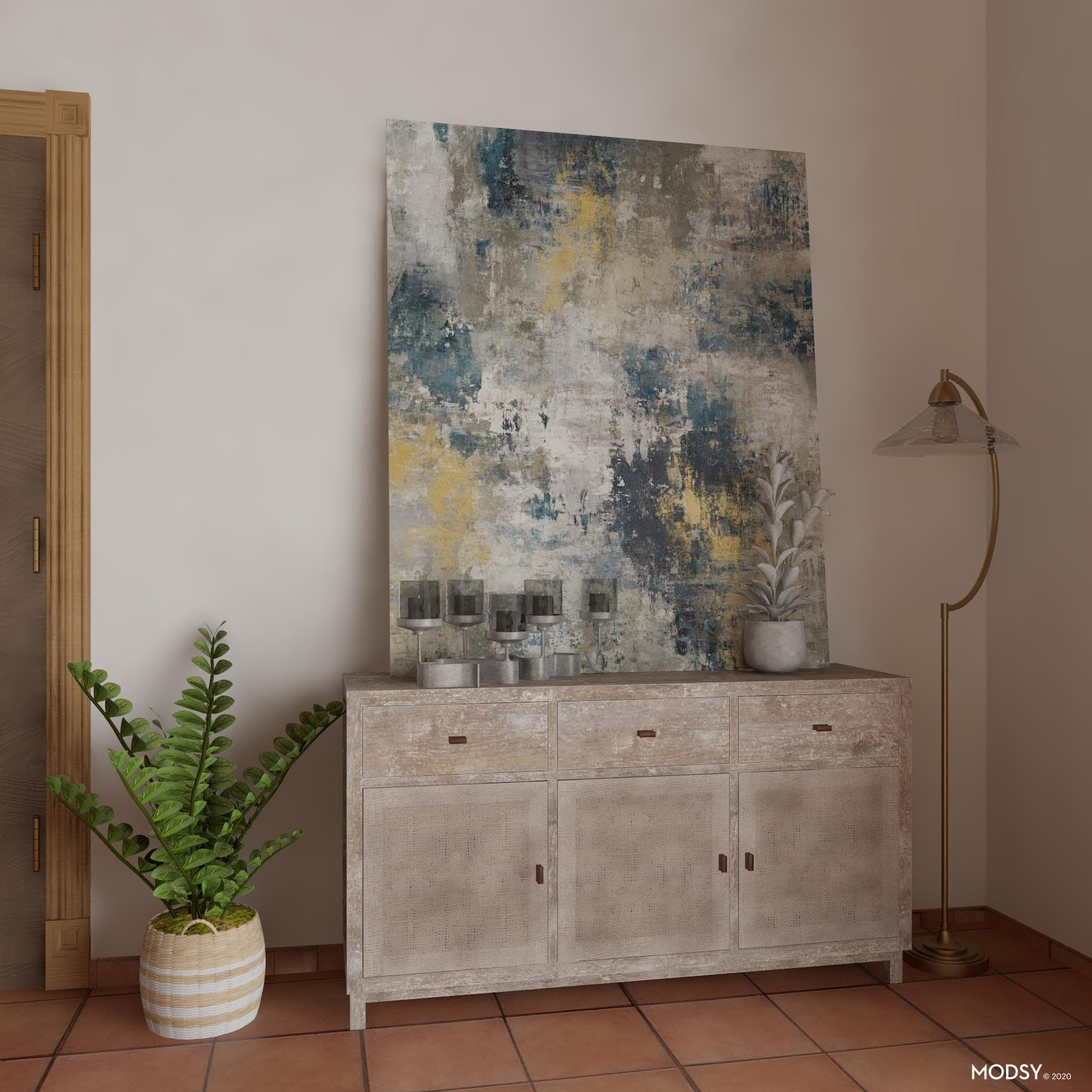 Caned Detailing: Rustic Sideboard