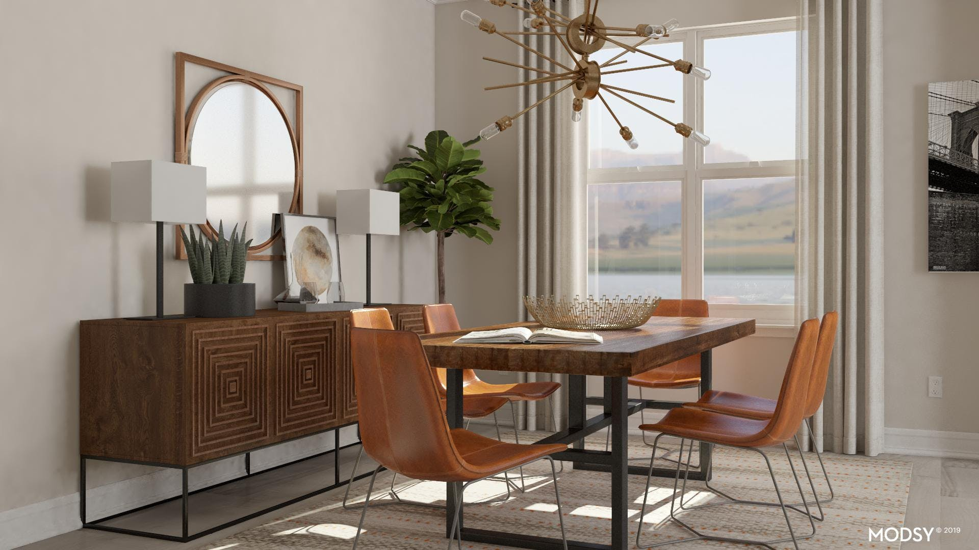 Naturally Industrial Dining Room