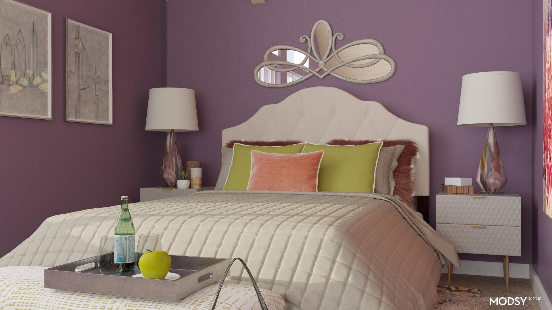 Textures for a Glam Bedroom