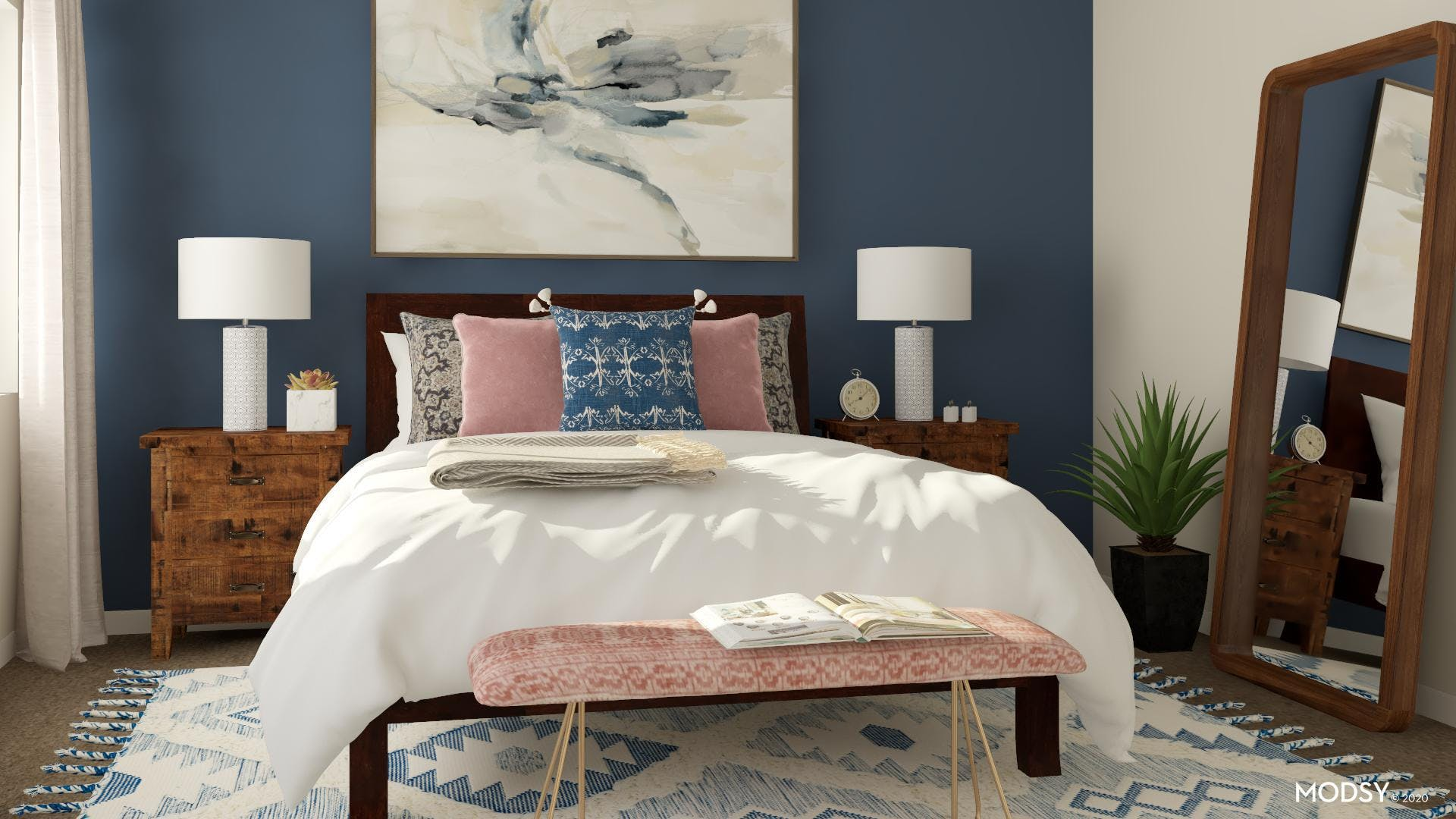 A Colorful Traditional Bedroom
