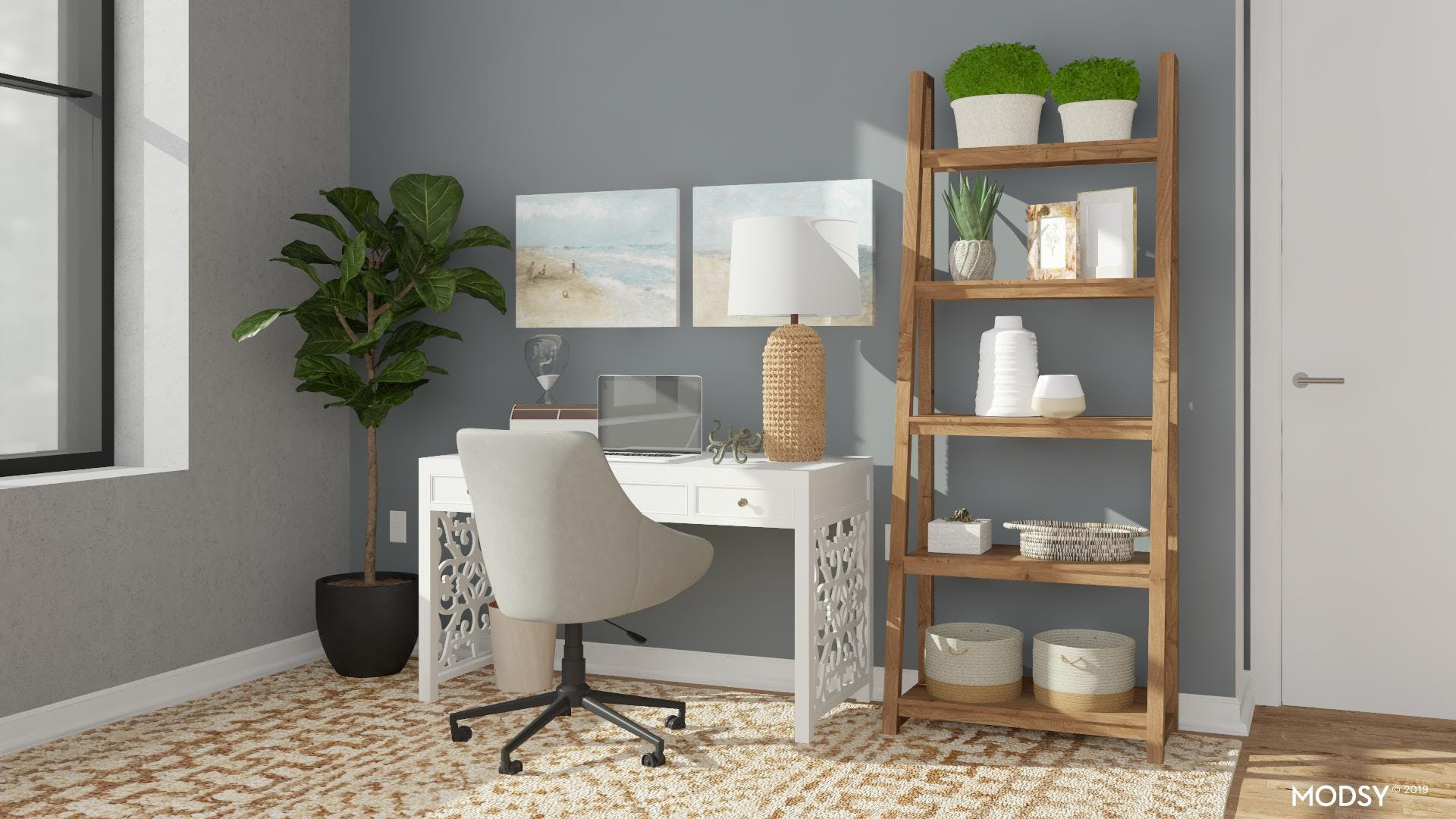 Office of a Neutral Coastal Style