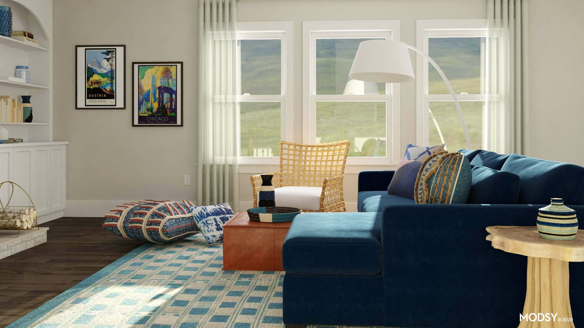 bright multicolor living room  eclecticstyle living room