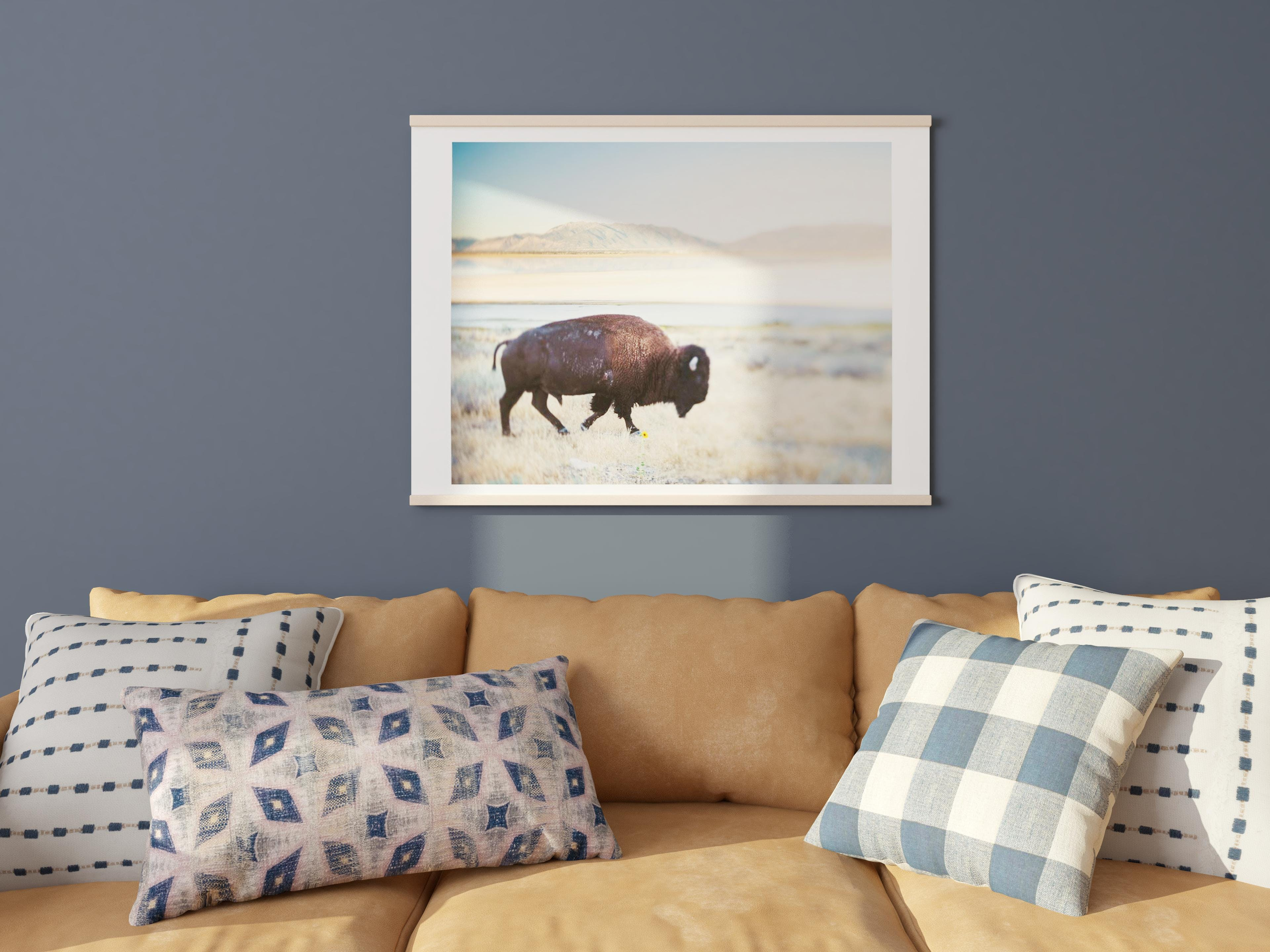 Eclectic And Cool Pillows And Wall Art Duo