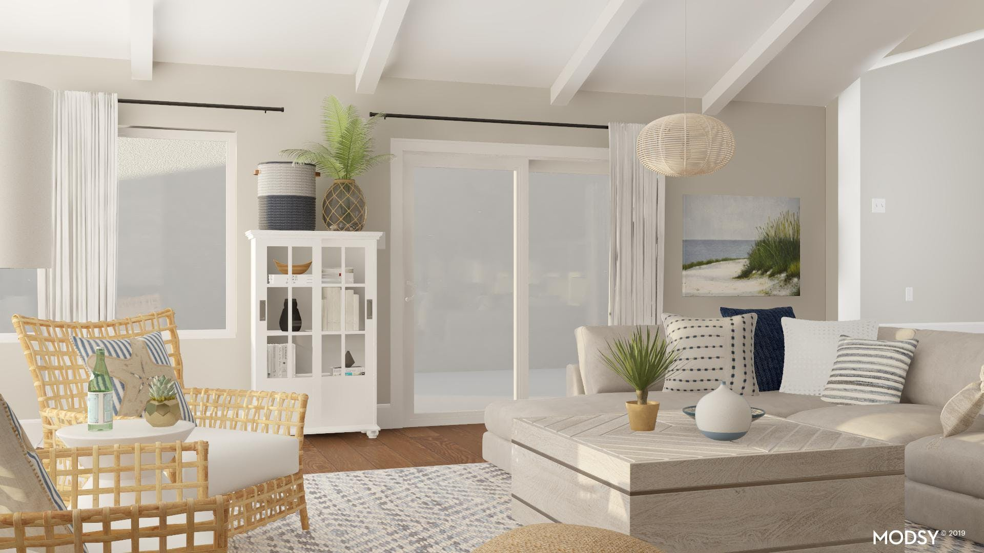 Layered And Textured Living Room