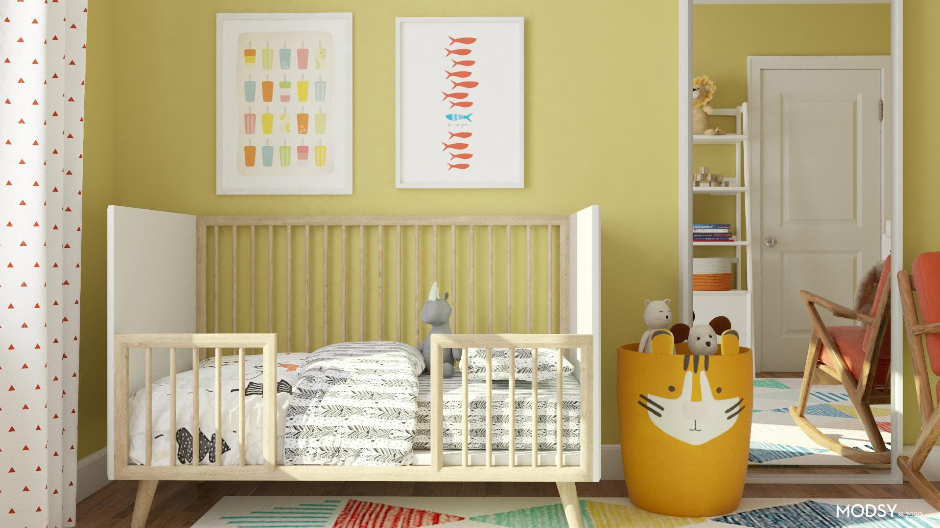 Colorful Room for a Growing Child