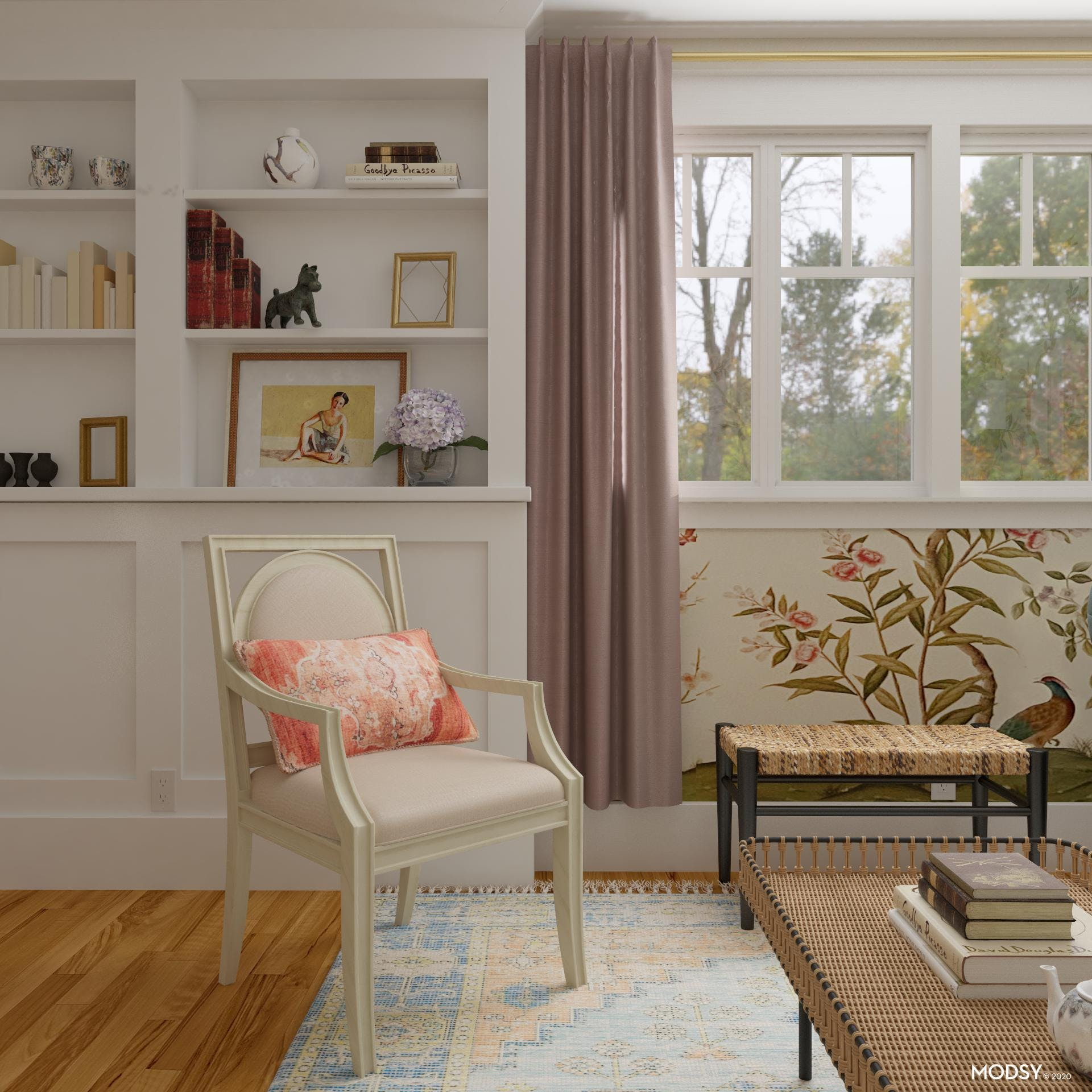 Grand Millennial Inspired Built-in with Americana Flare