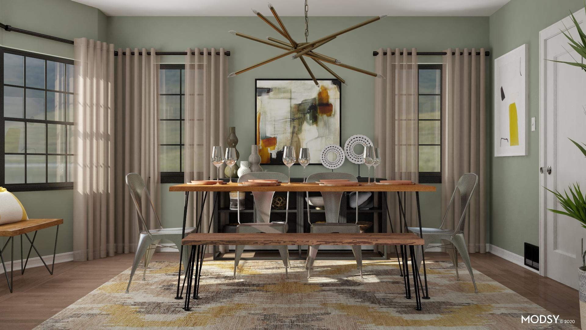 On Trend Industrial Dining Room