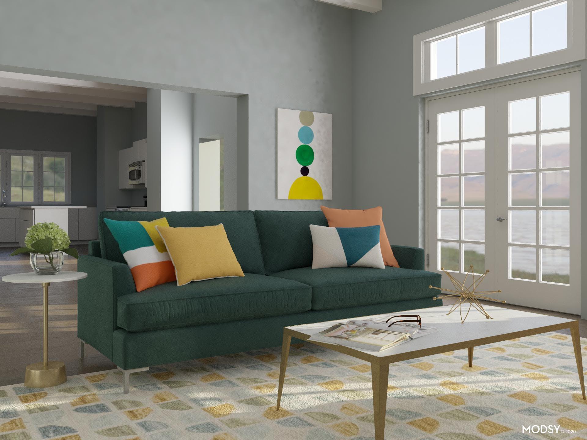 Multicolor Bonanza: Living Room
