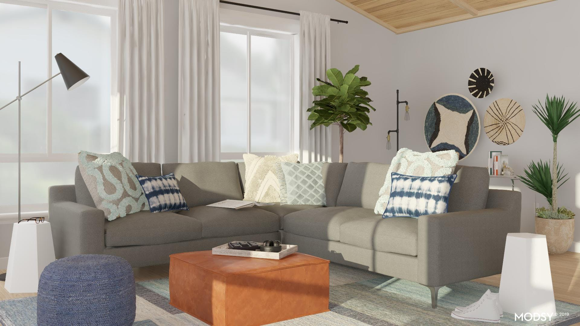 Cool And Calming Living Room