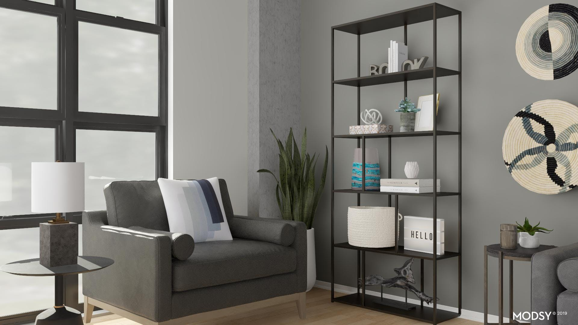 Modern Styled Reading Nook