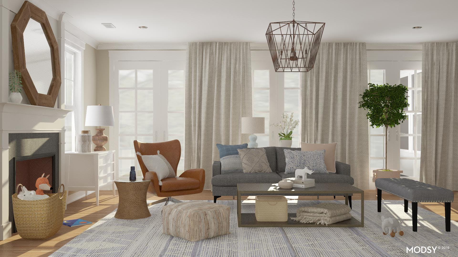 A Contemporary, Kid-Friendly Living Room