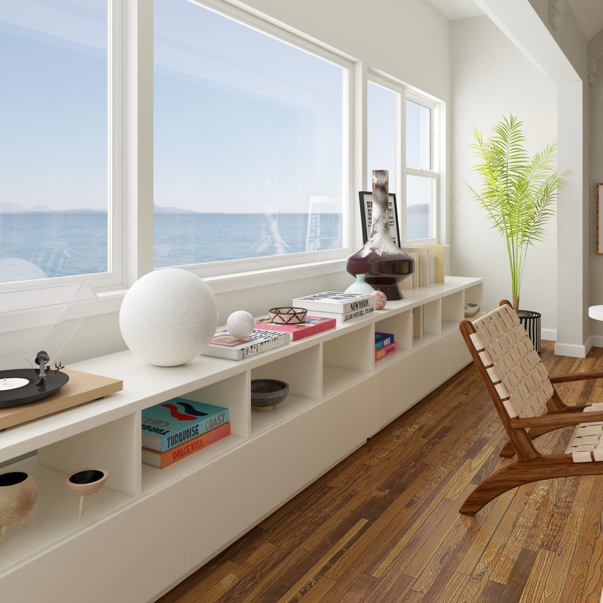 Seaside View with Bold Contemporary Styling