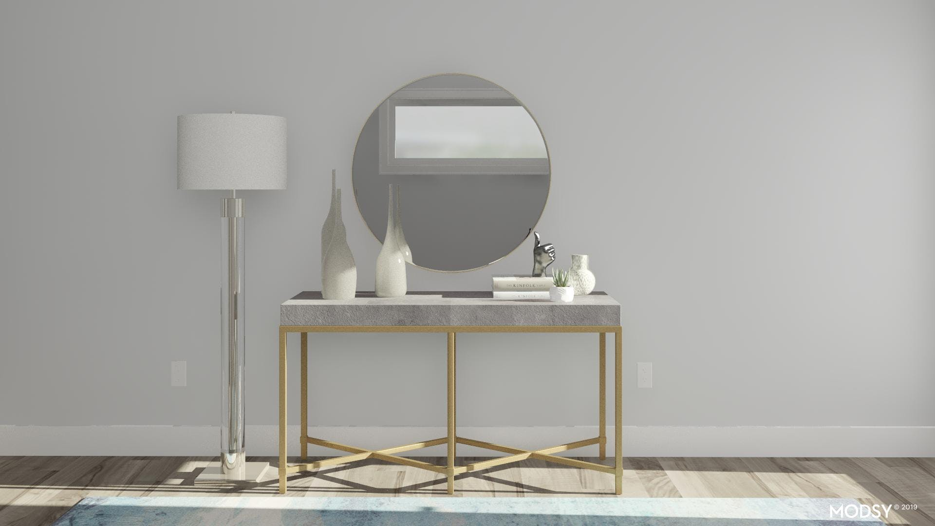 Shagreen Console Table Styling