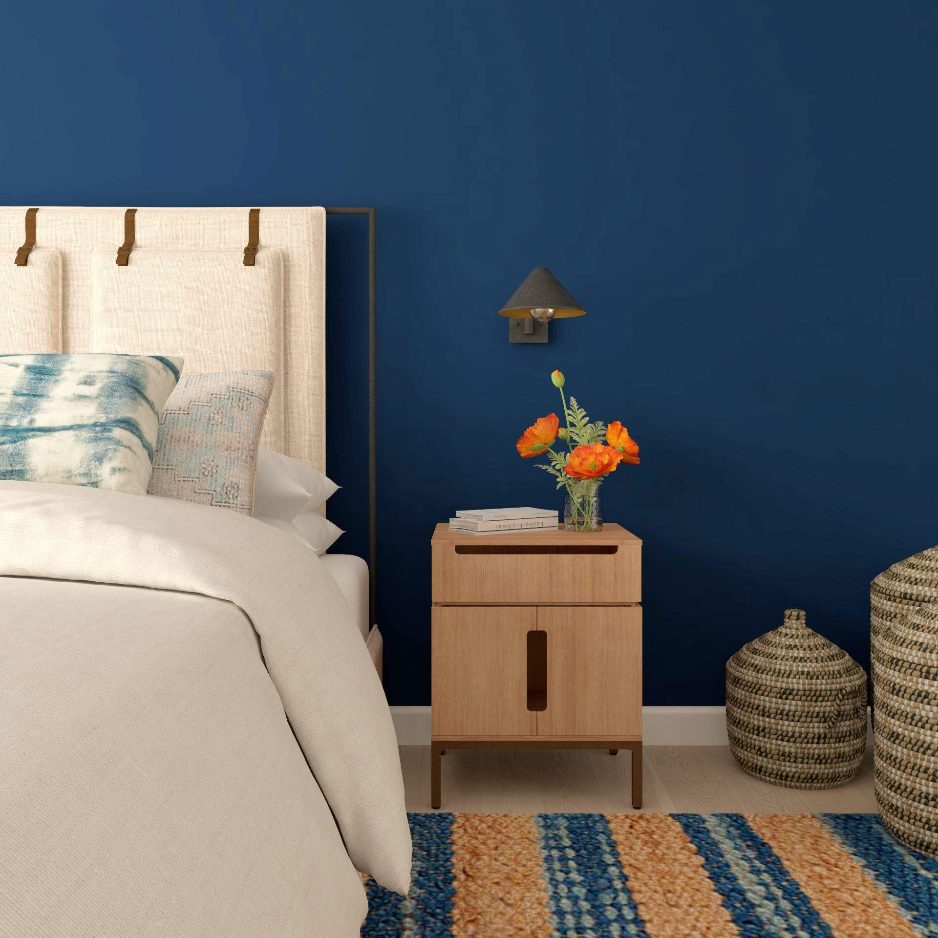 Blue and Beige Contemporary Nightside Tableau