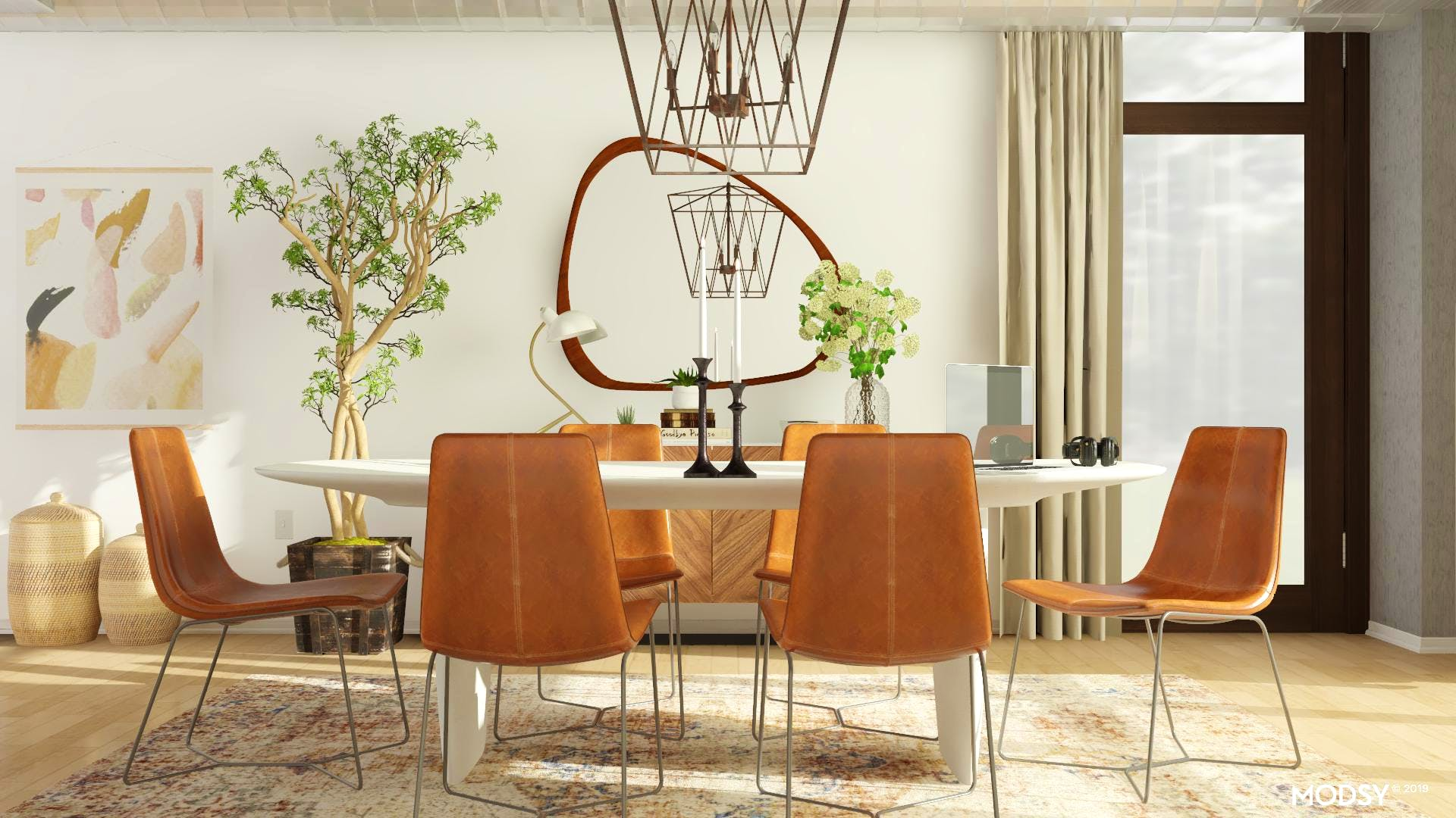 Mid-Century Dining With A Warm Neutral Style