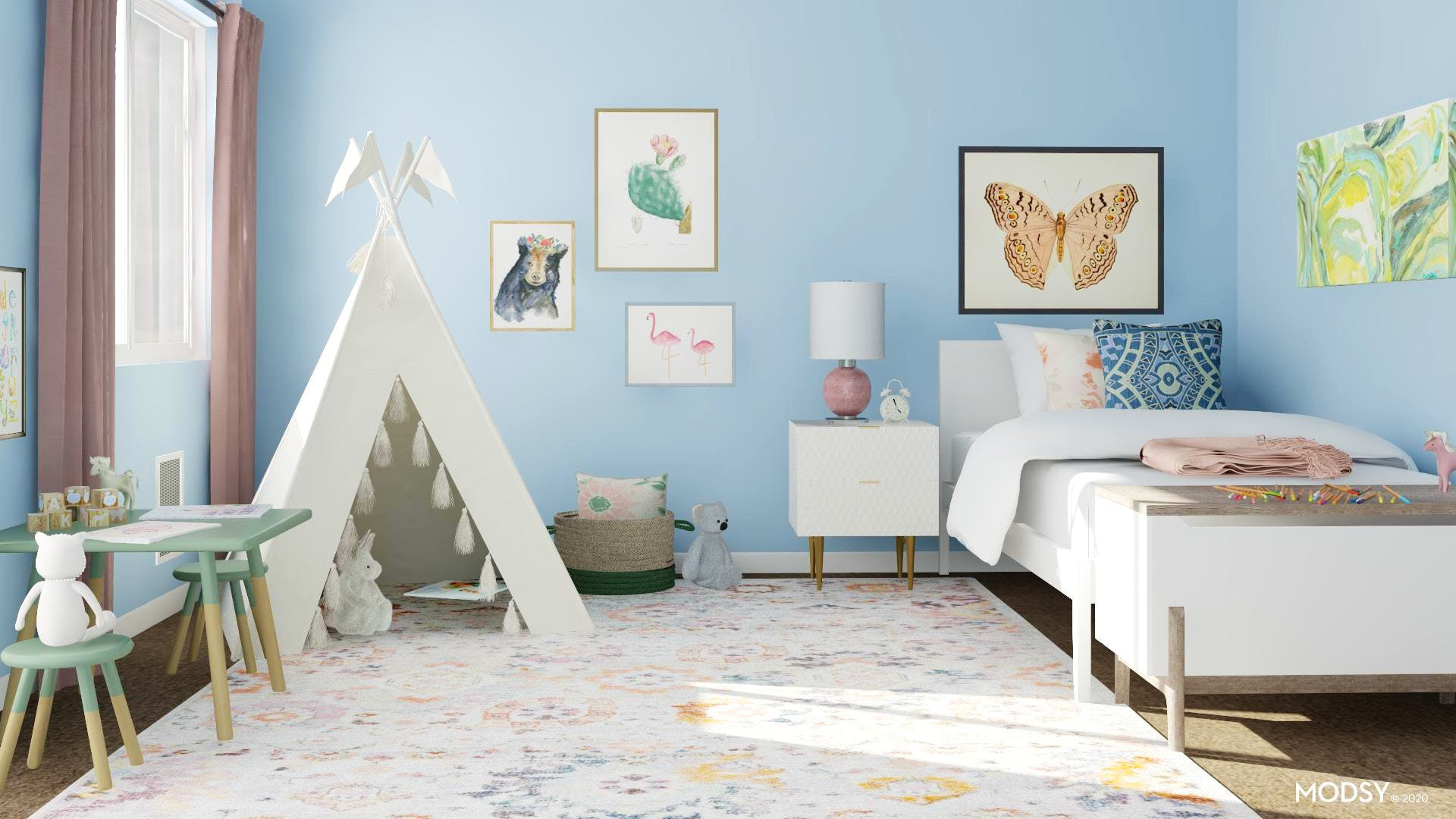 A Contemporary Kids Bedroom